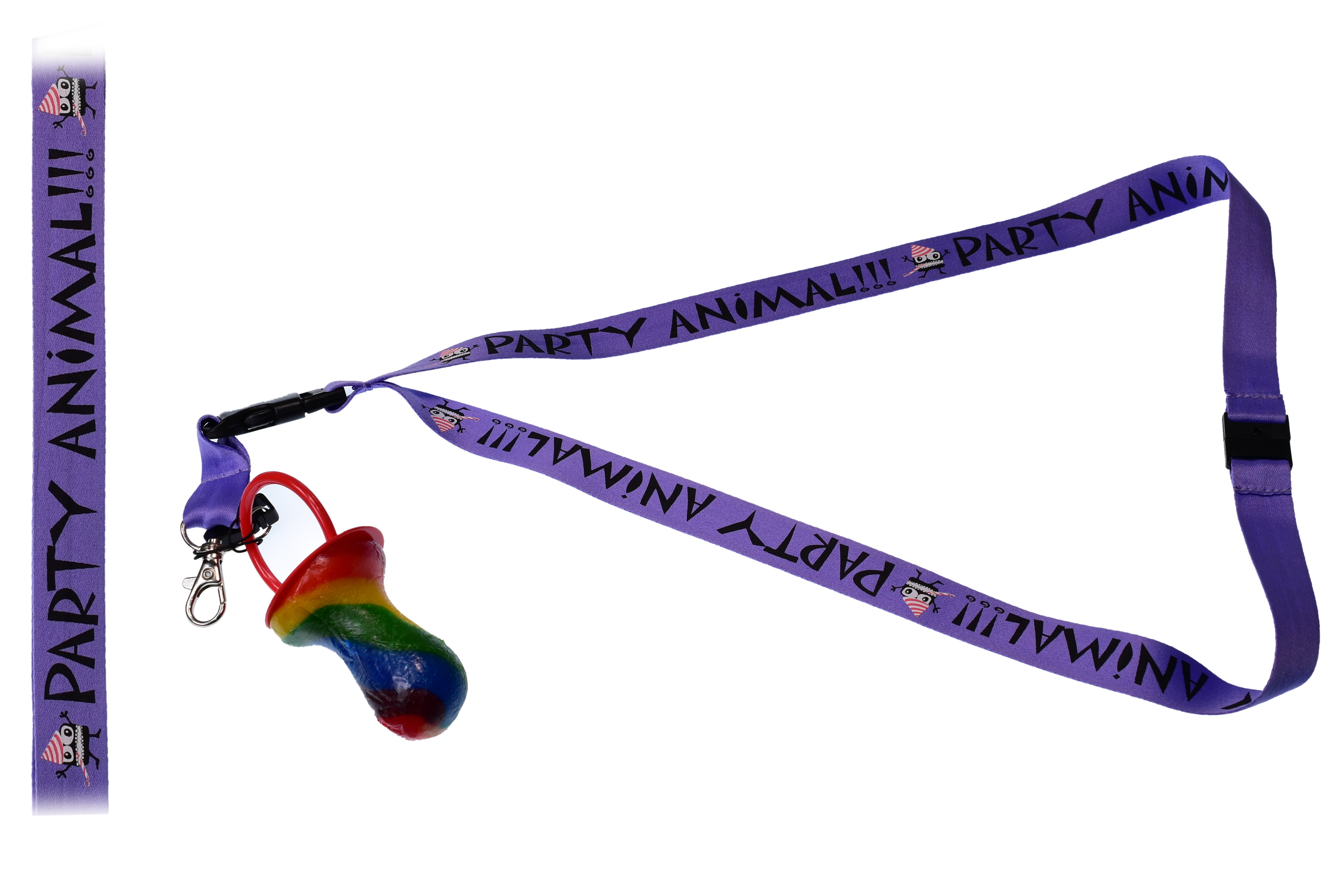 Party Animal Lanyard With Rock Dummy