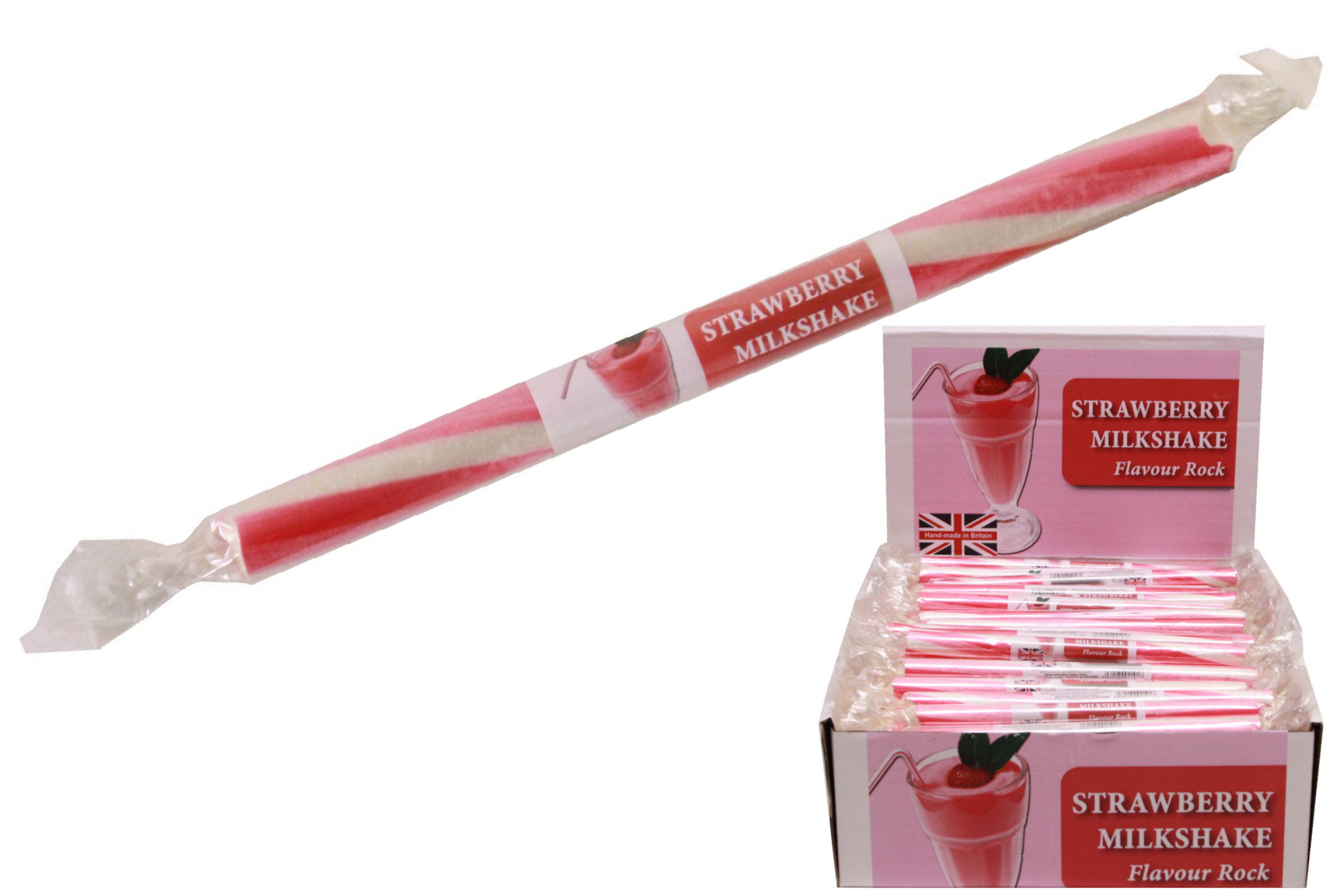 Strawberry Milkshake Flavoured Rock Sticks In D/Box
