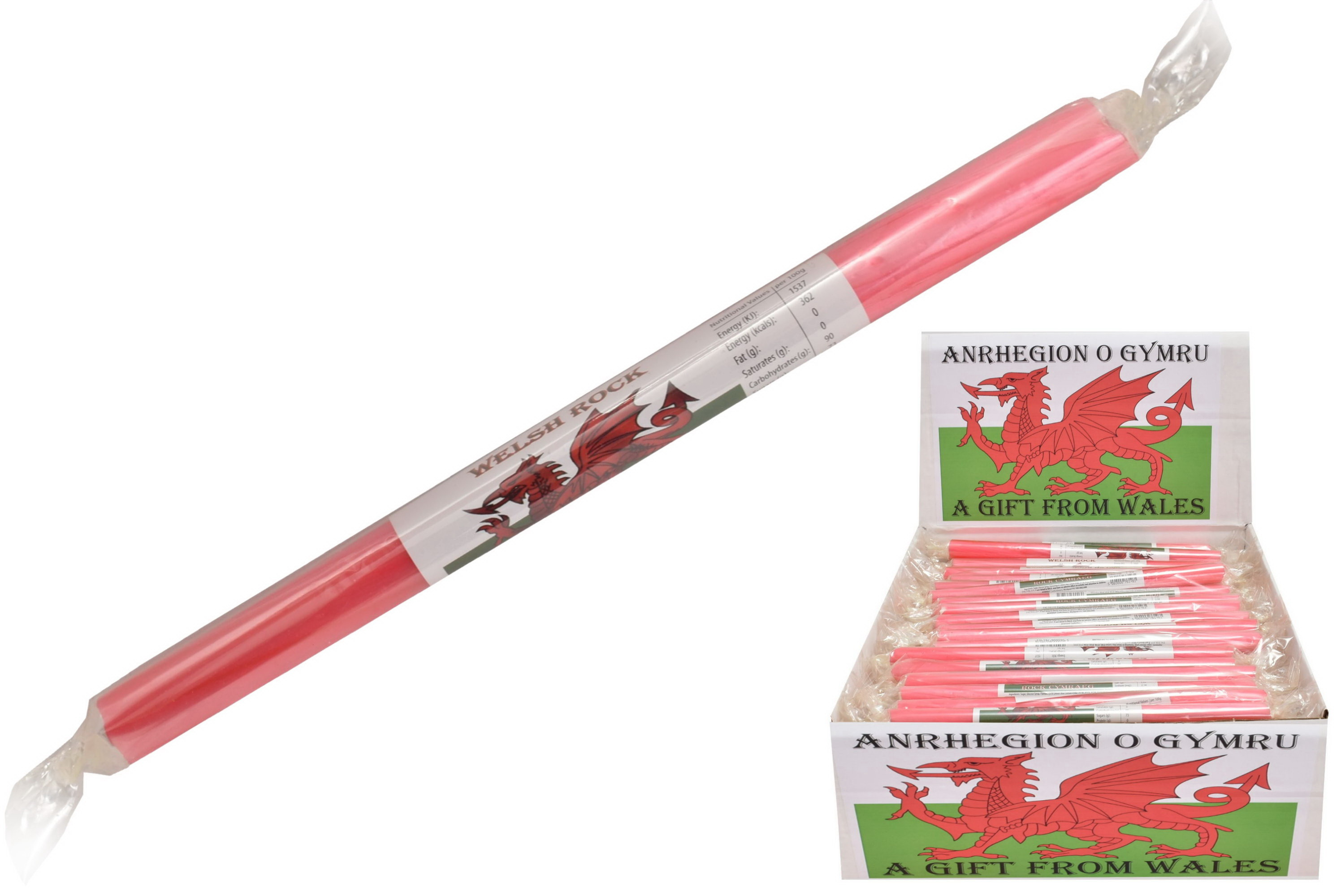 Welsh Flag - Flavoured Rock Sticks
