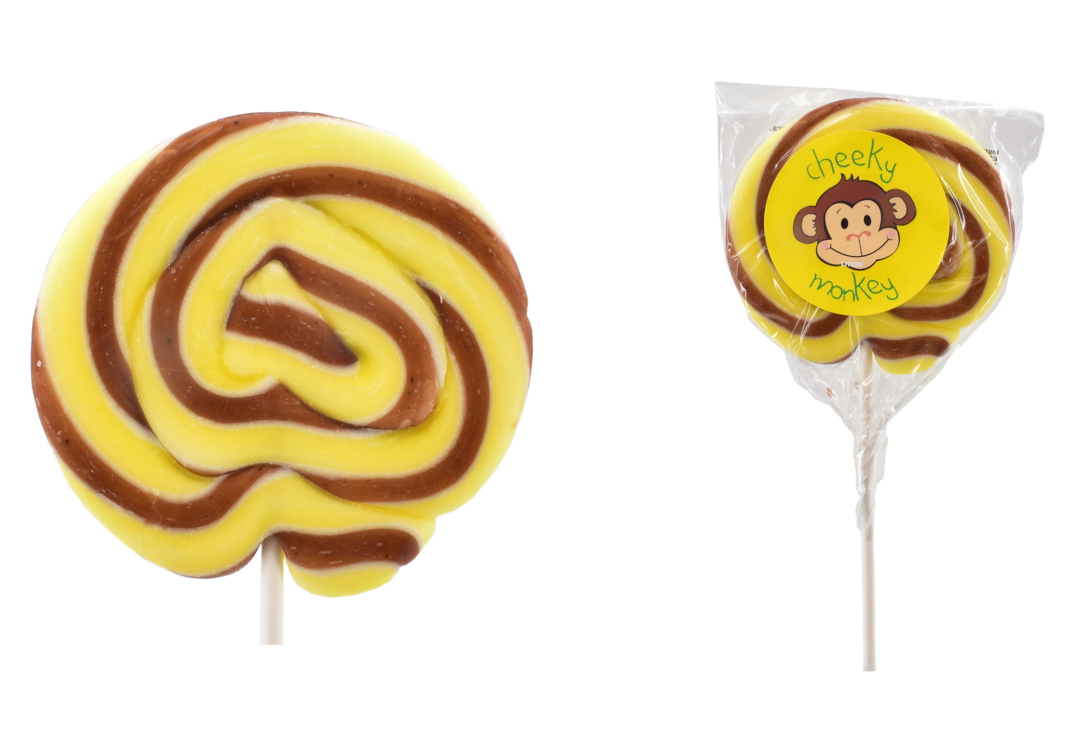 """Cheeky Monkey"" Wheel Lollies"