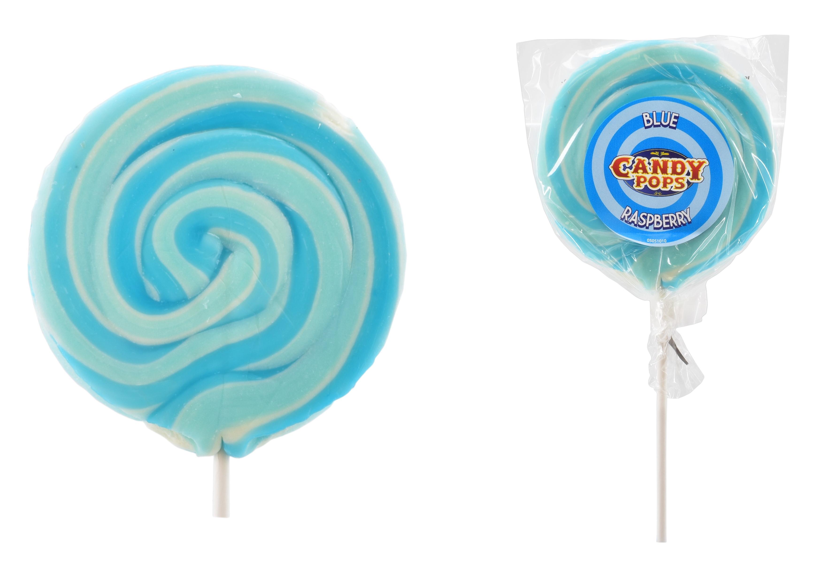 """Blue Raspberry"" Wheel Lollies"