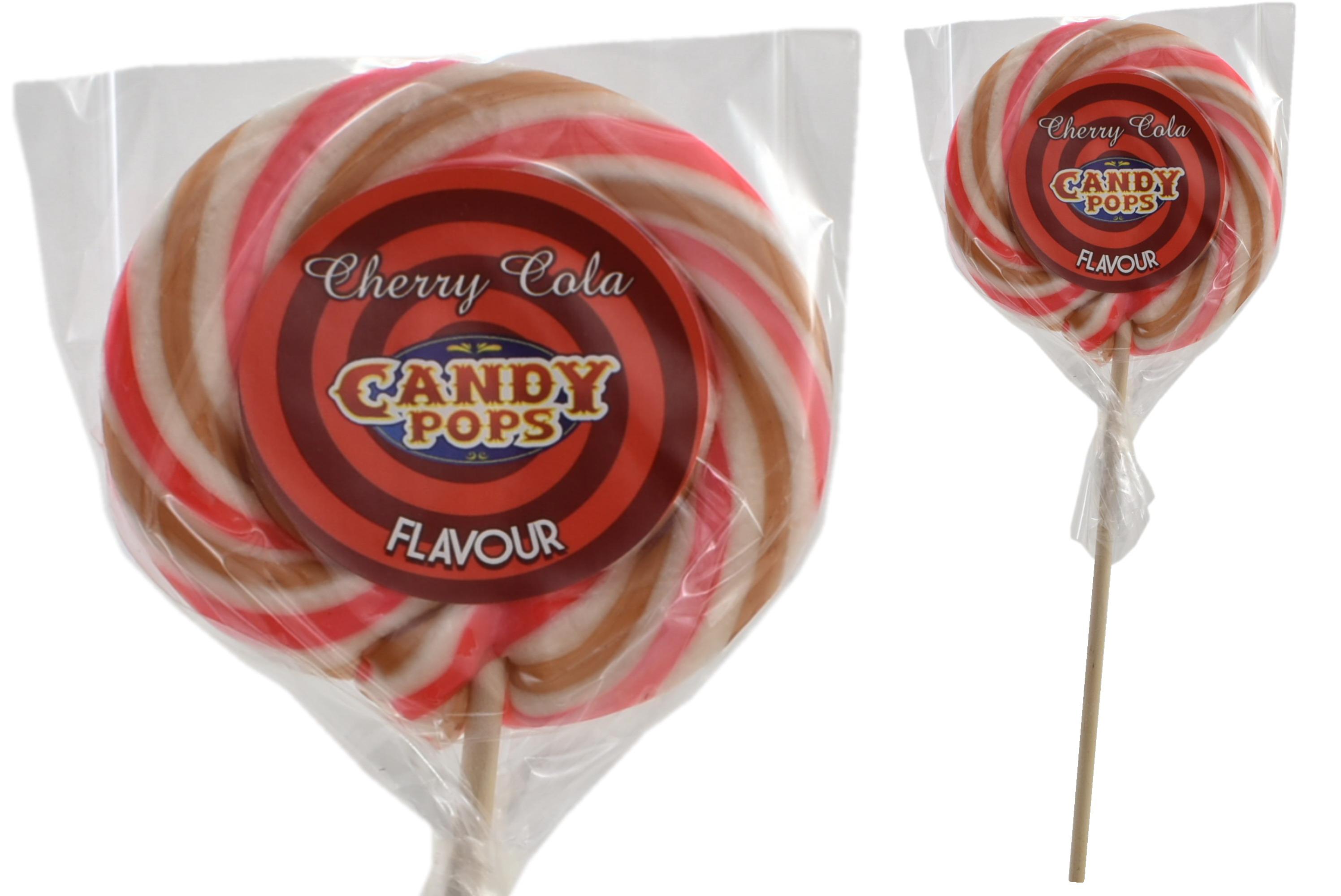 """""""Cherry Cola"""" Wheel Lollies"""