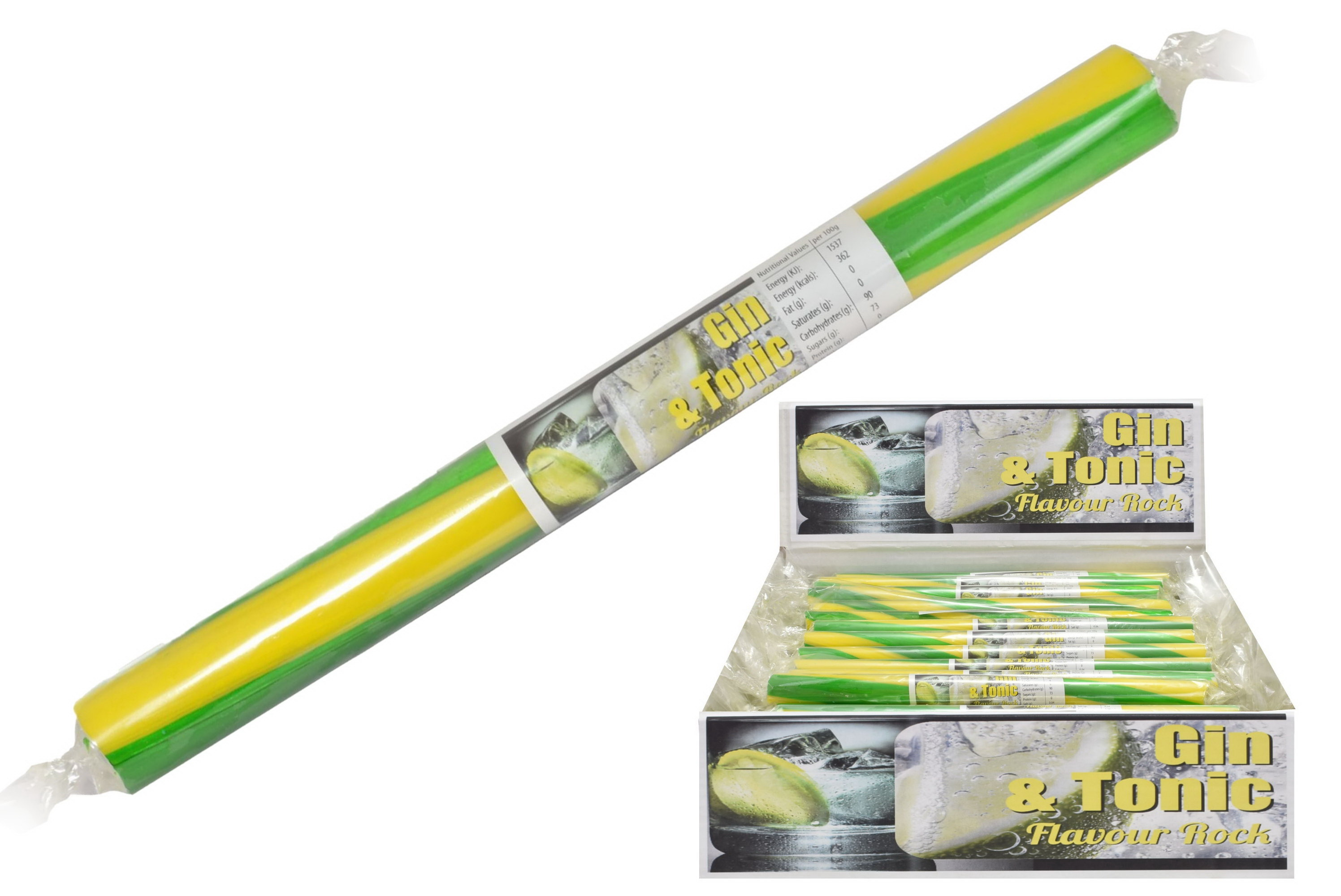 Gin & Tonic - Flavoured Rock Sticks