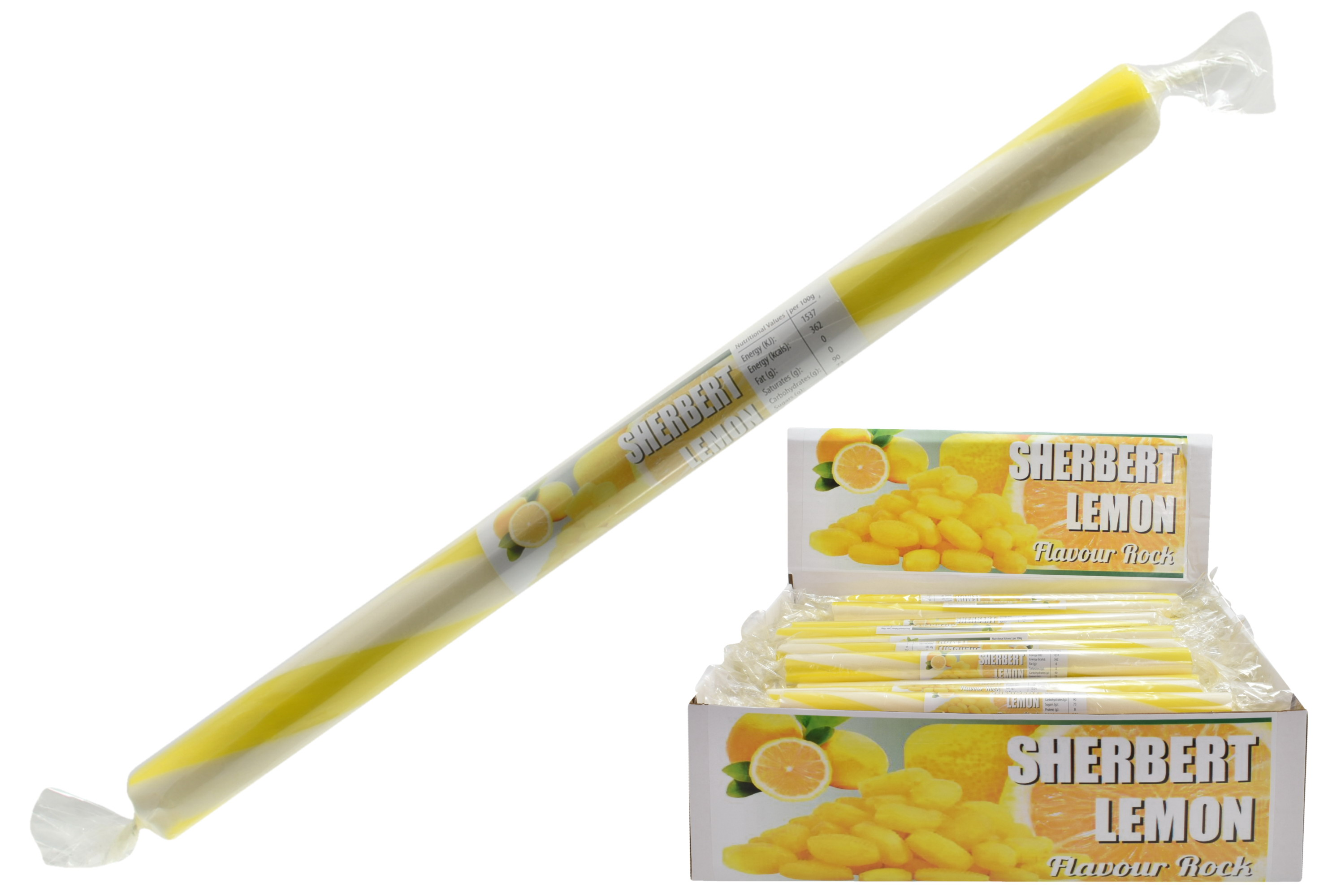 Lemon Sherbet - Flavoured Rock Sticks