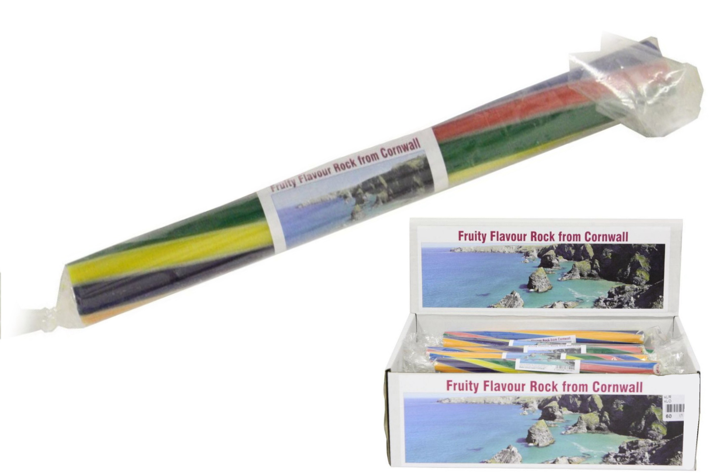 Fruity/Rainbow - Cornwall - Flavoured Rock Sticks