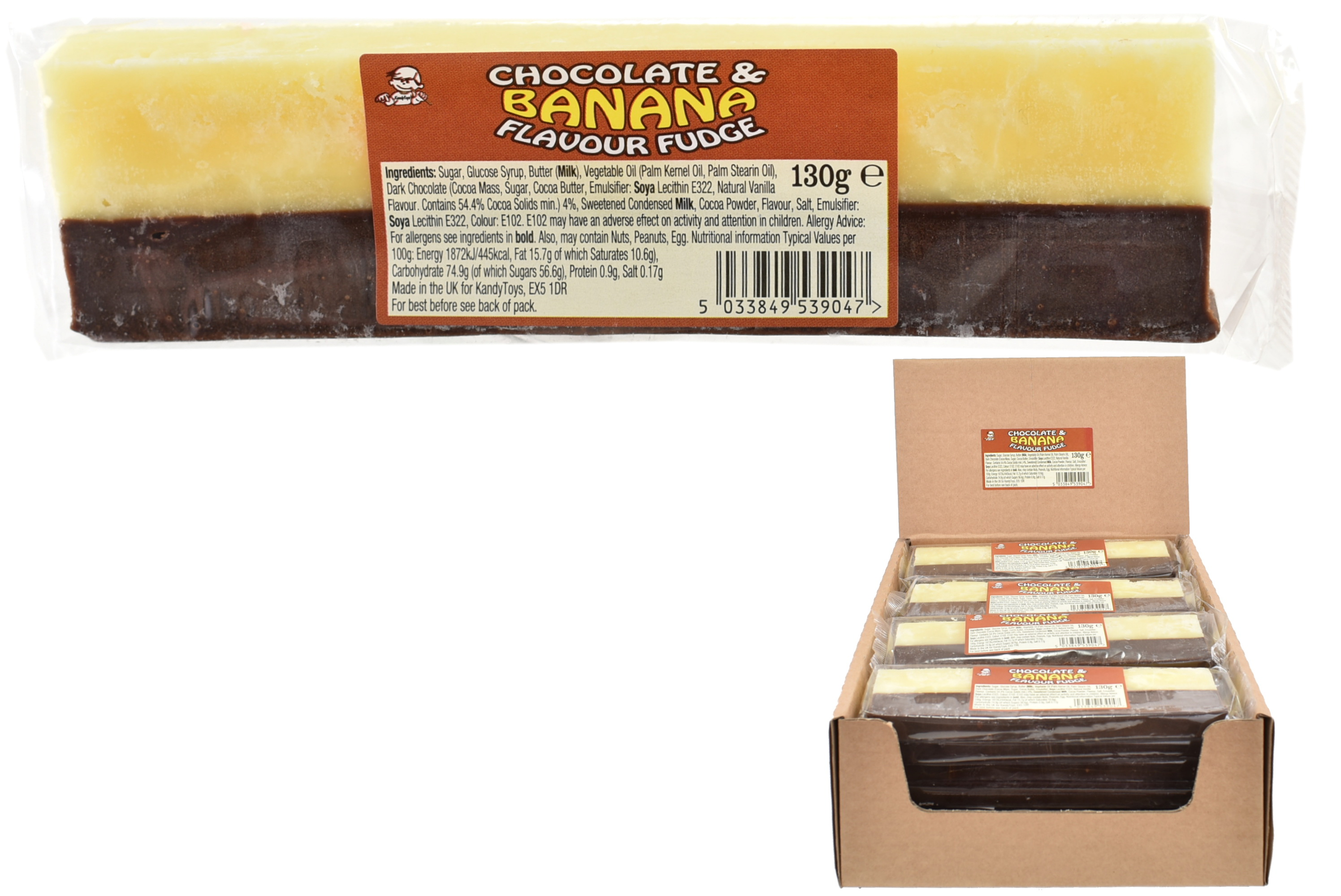 130g Chocolate & Banana Flavour Fudge Bar
