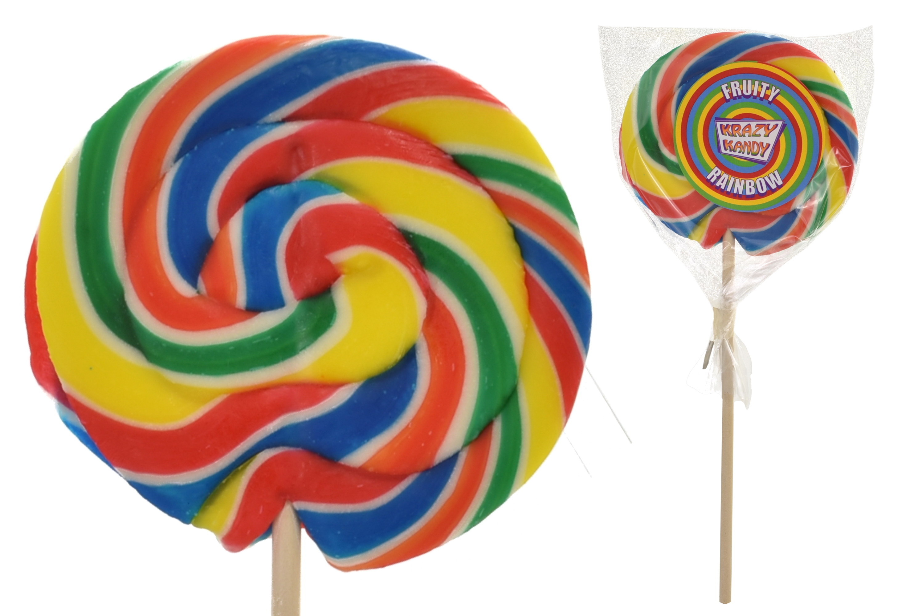 Fruity Rainbow Wheel Lollies