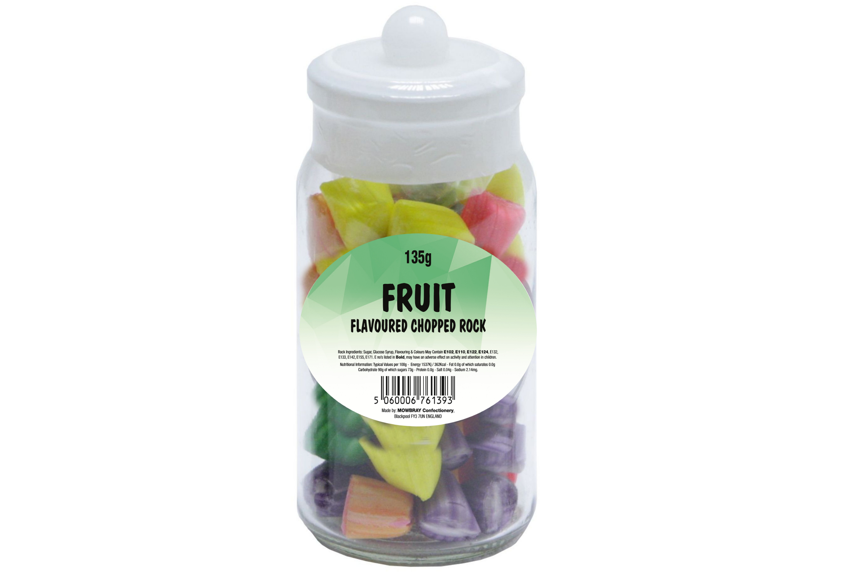 Chopped Fruit Rock - Glass Jar