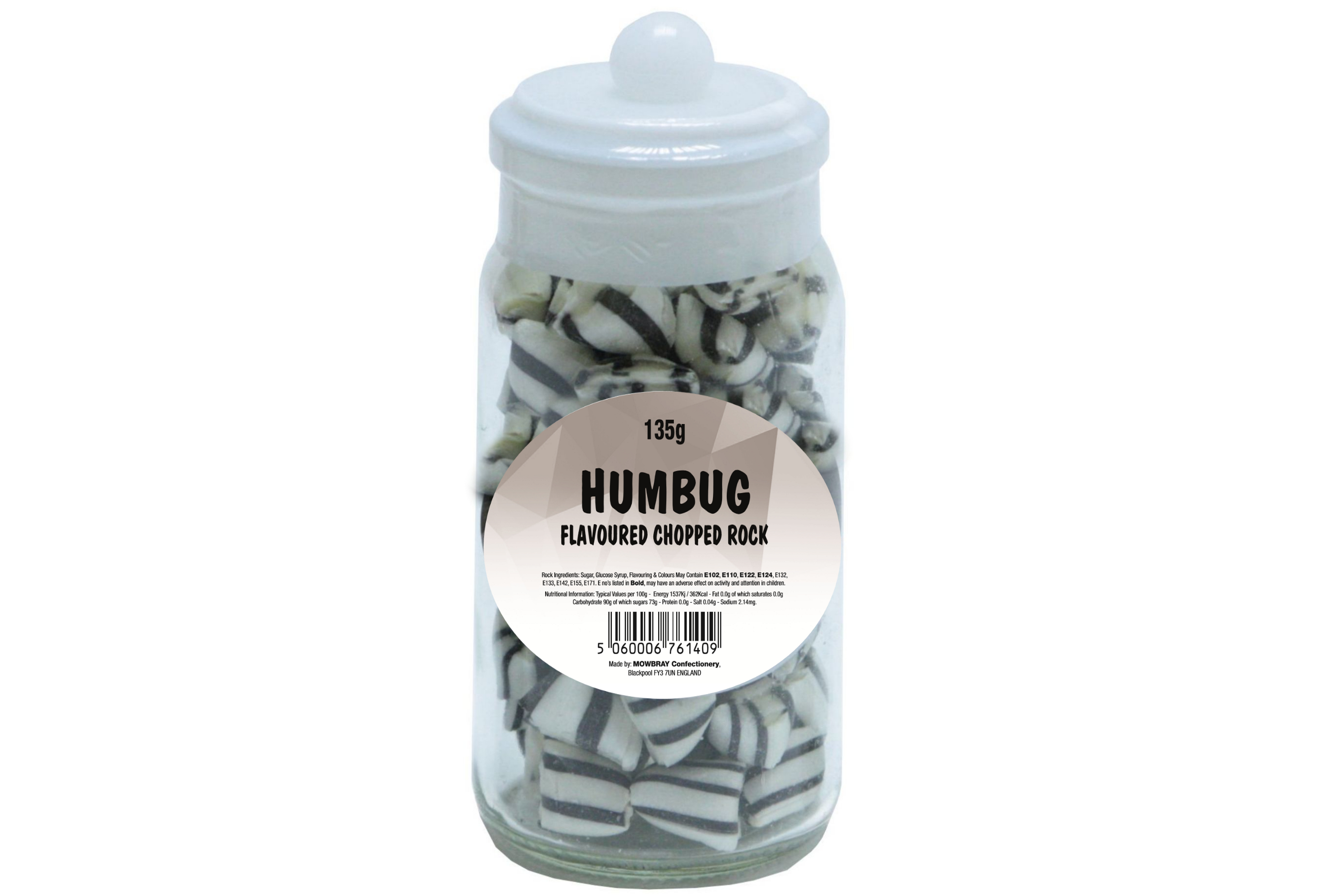 Black & White Humbugs - Glass Jar