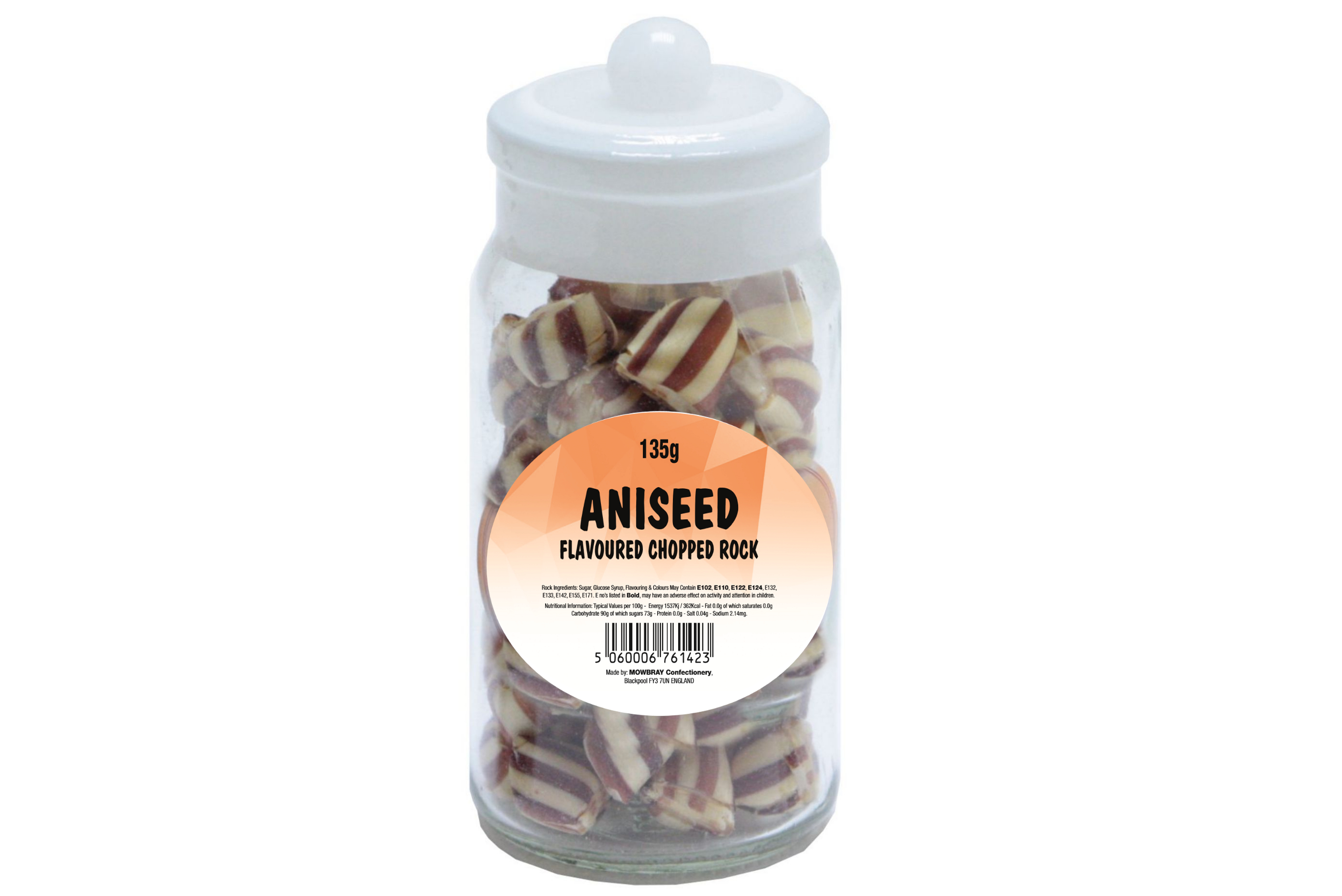 Aniseed Rock - Glass Jar