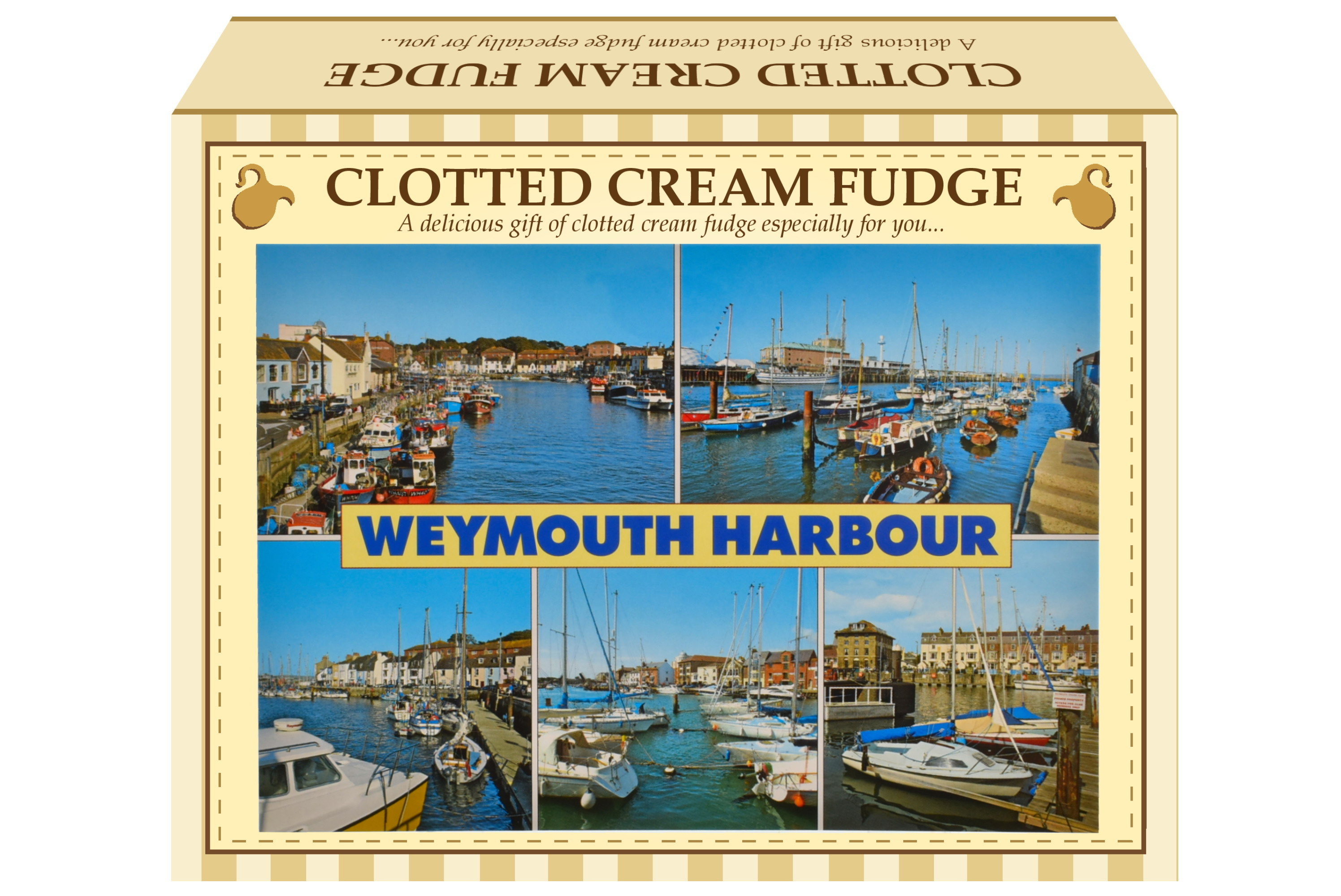 100g Clotted Cream Fudge Postcard Gift Box