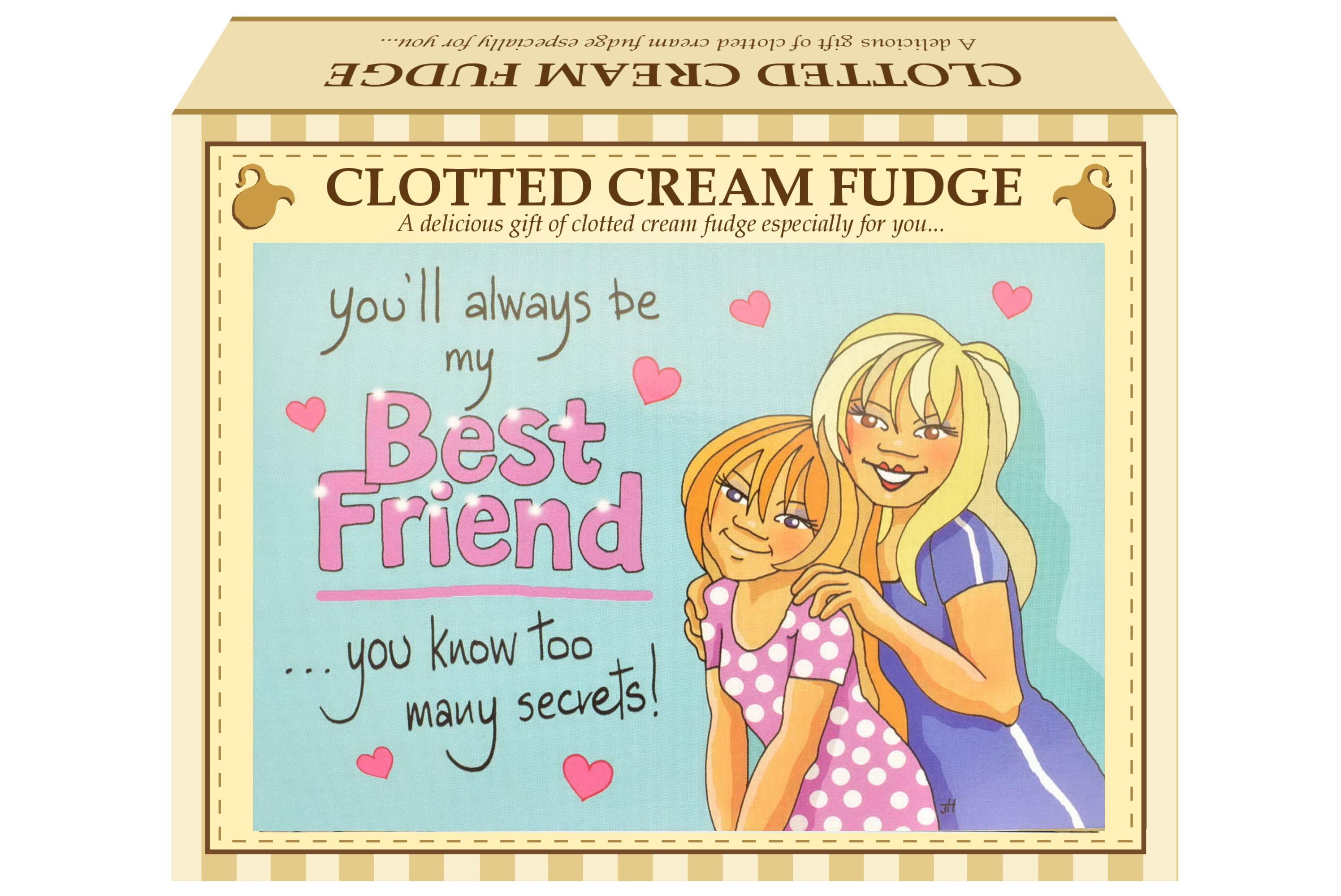 """100g C/Cream Fudge """"Best Friend"""" Postcard Gift Box"""