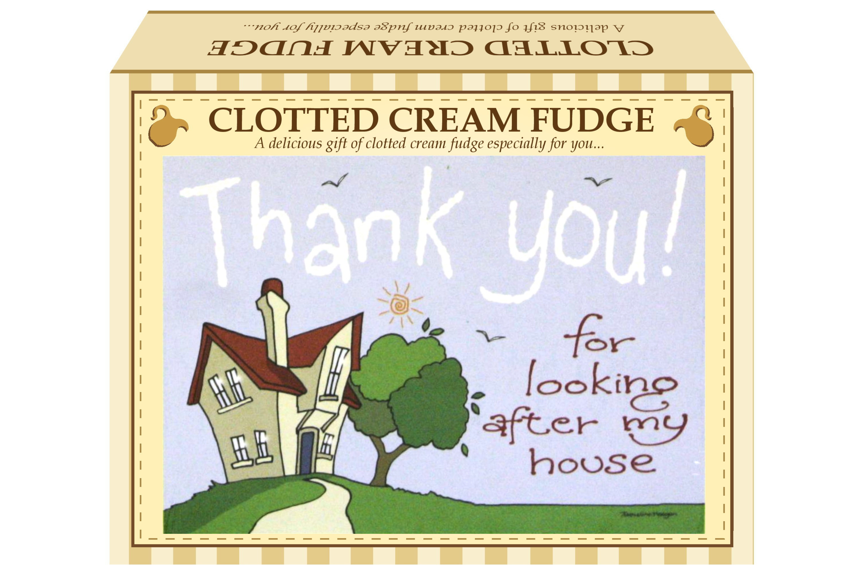 "100g Clotted Cream Fudge ""Home"" Postcard Gift Box"