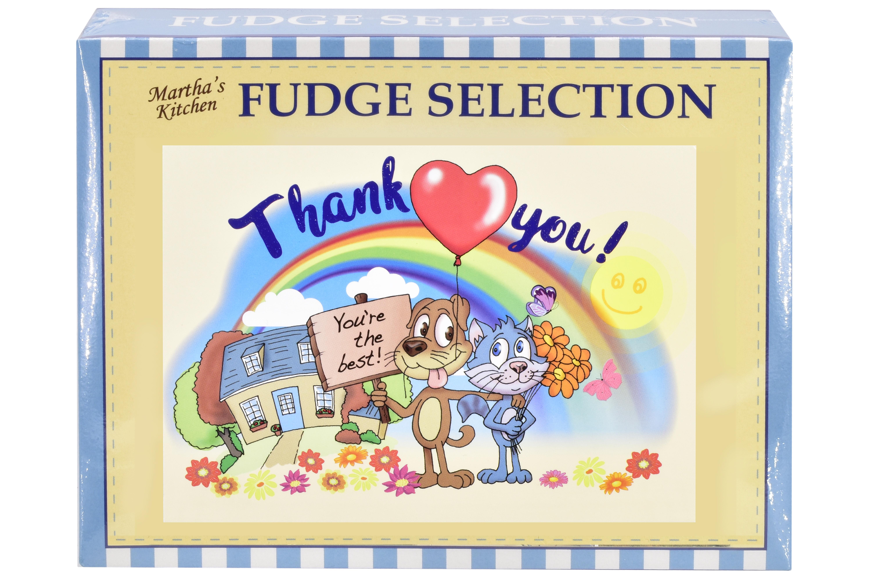 "100g Mixed Fudge ""Thank You"" Postcard Gift Box"