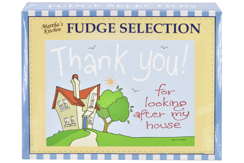 "100g Mixed Fudge ""Home"" Postcard Gift Box"