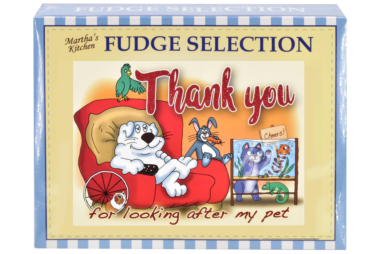 "100g Mixed Fudge ""Pet"" Postcard Gift Box"