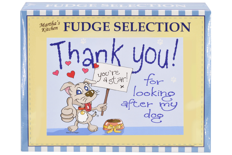 """100g Mixed Fudge """"Dog"""" Postcard Gift Box"""