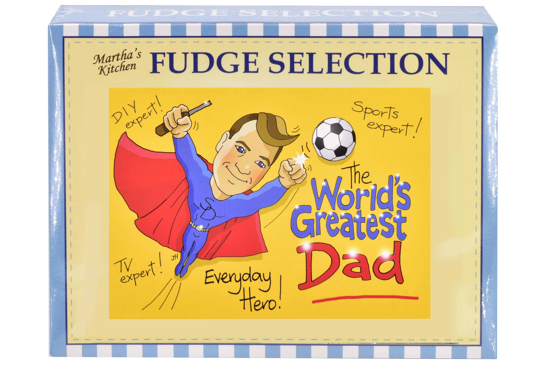 """100g Mixed Fudge """"Dad"""" Postcard Gift Box"""
