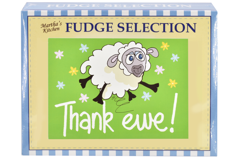 "100g Mixed Fudge ""Thank Ewe"" Postcard Gift Box"