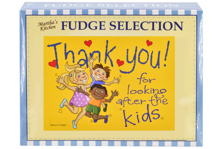 "100g Mixed Fudge ""Kids"" Postcard Gift Box"