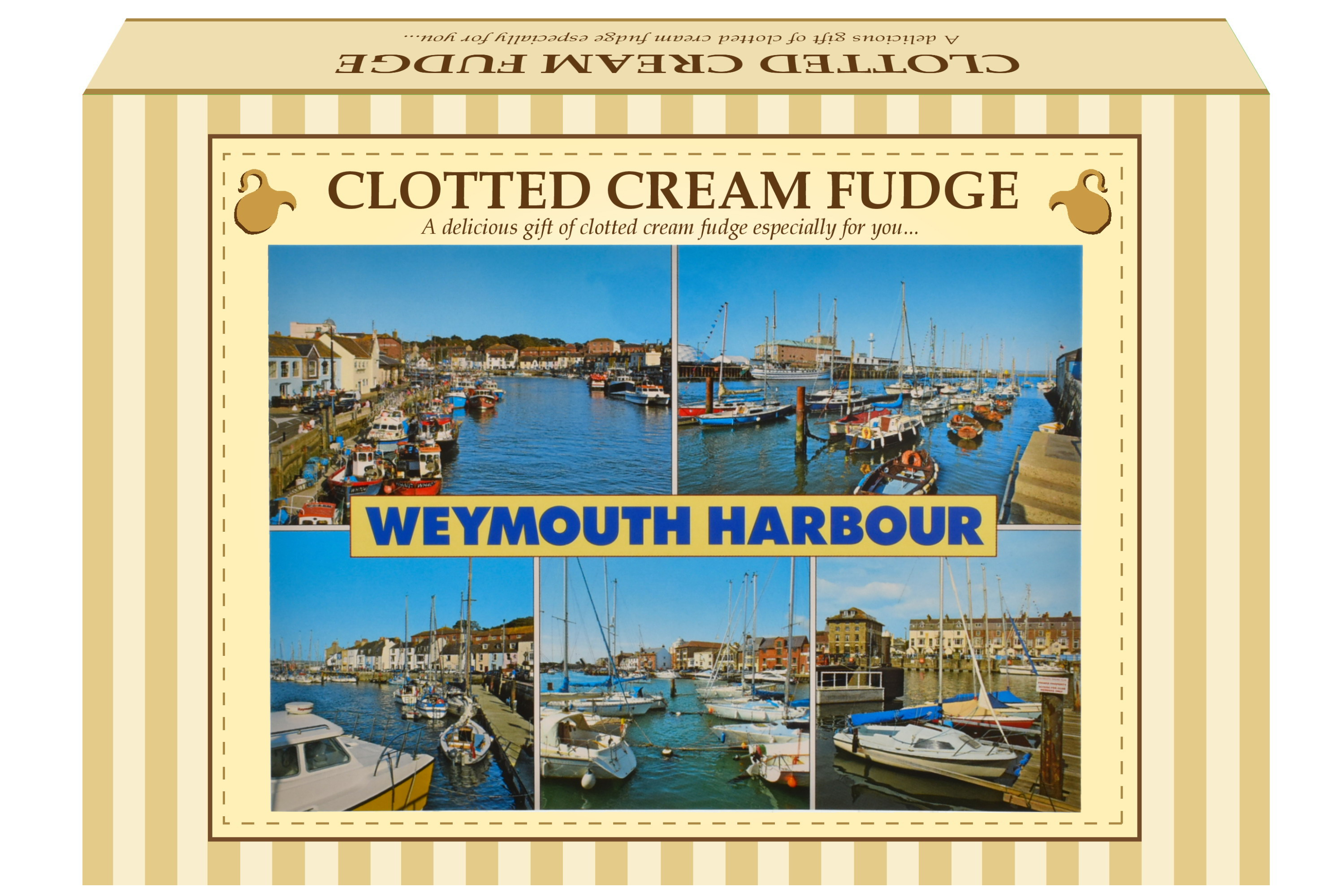 200g Clotted Cream Fudge Postcard Gift Box