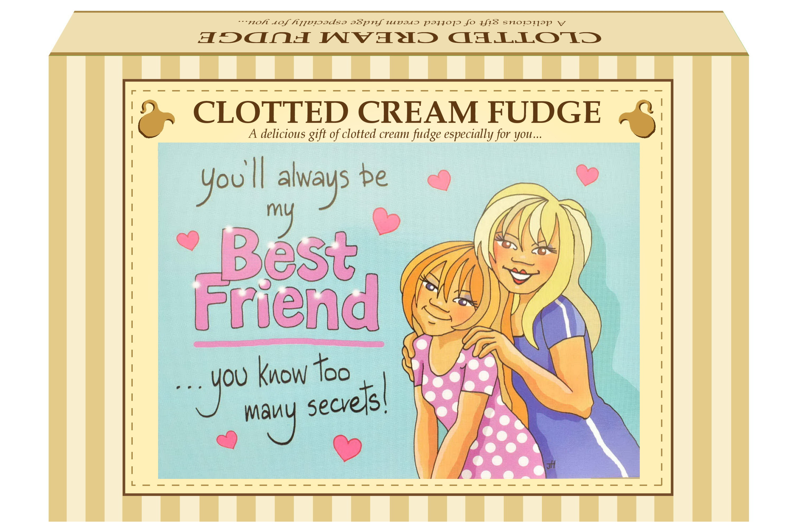 "200g C/Cream Fudge ""Best Friend"" Postcard Gift Box"