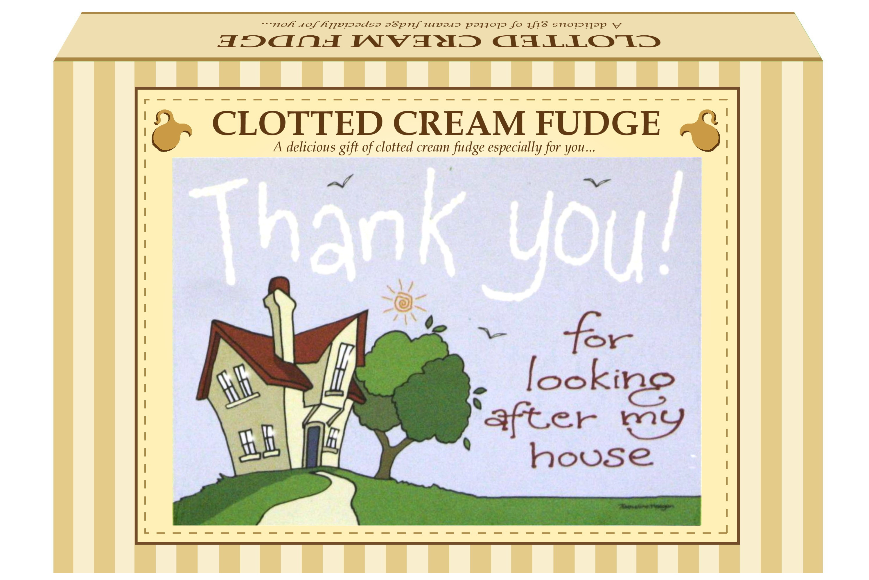 "200g Clotted Cream Fudge ""Home"" Postcard Gift Box"
