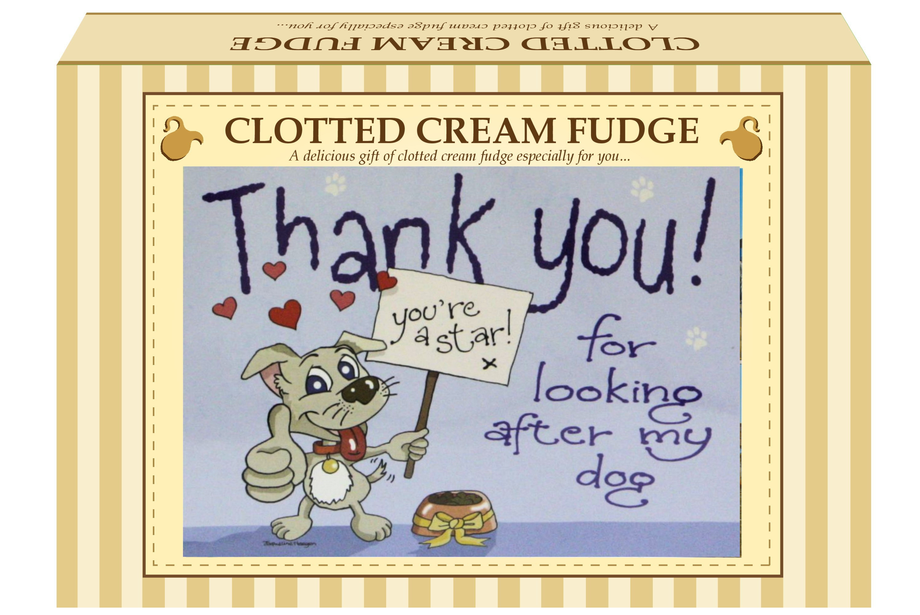 "200g Clotted Cream Fudge ""Dog"" Postcard Gift Box"
