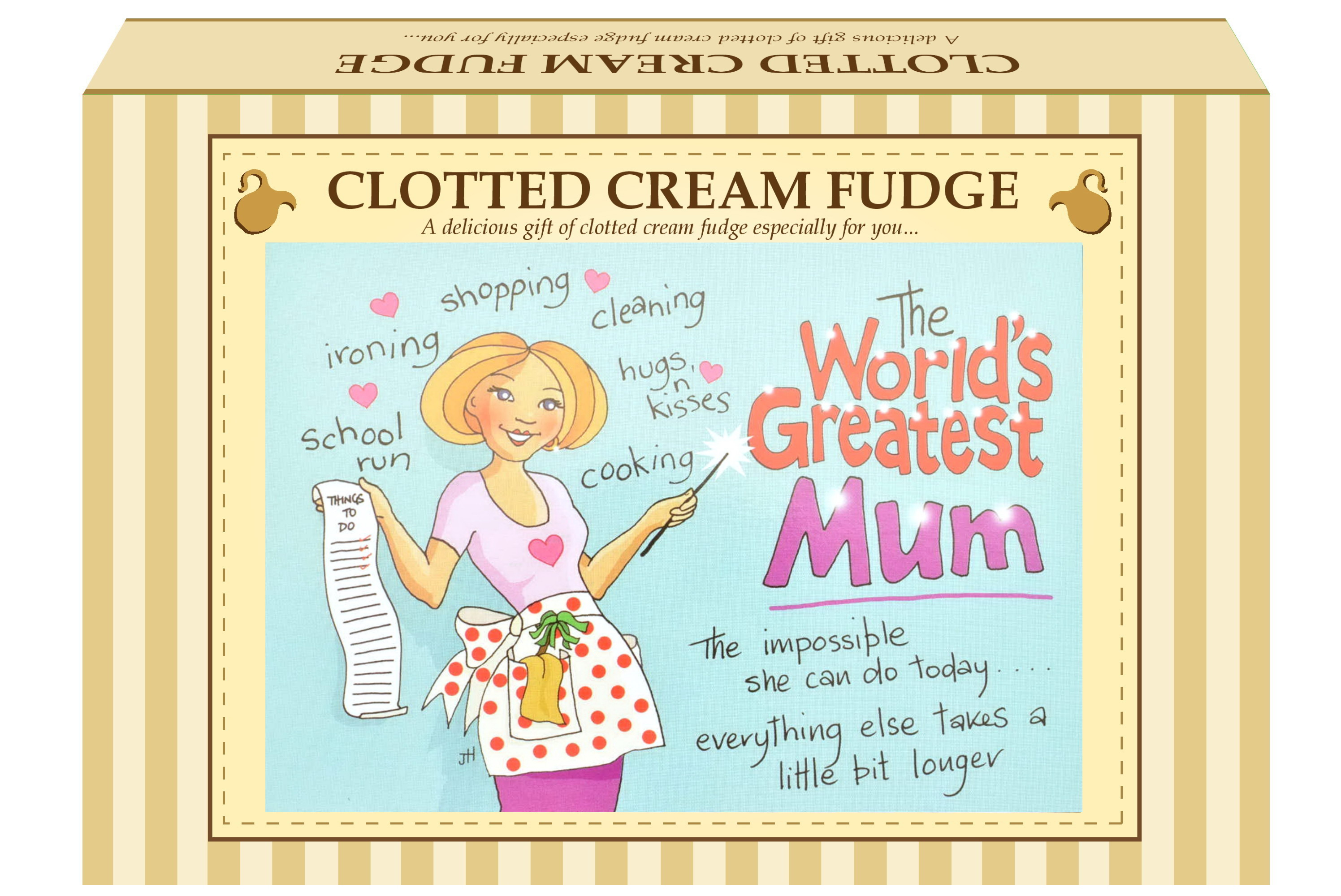 "200g Clotted Cream Fudge ""Mum"" Postcard Gift Box"