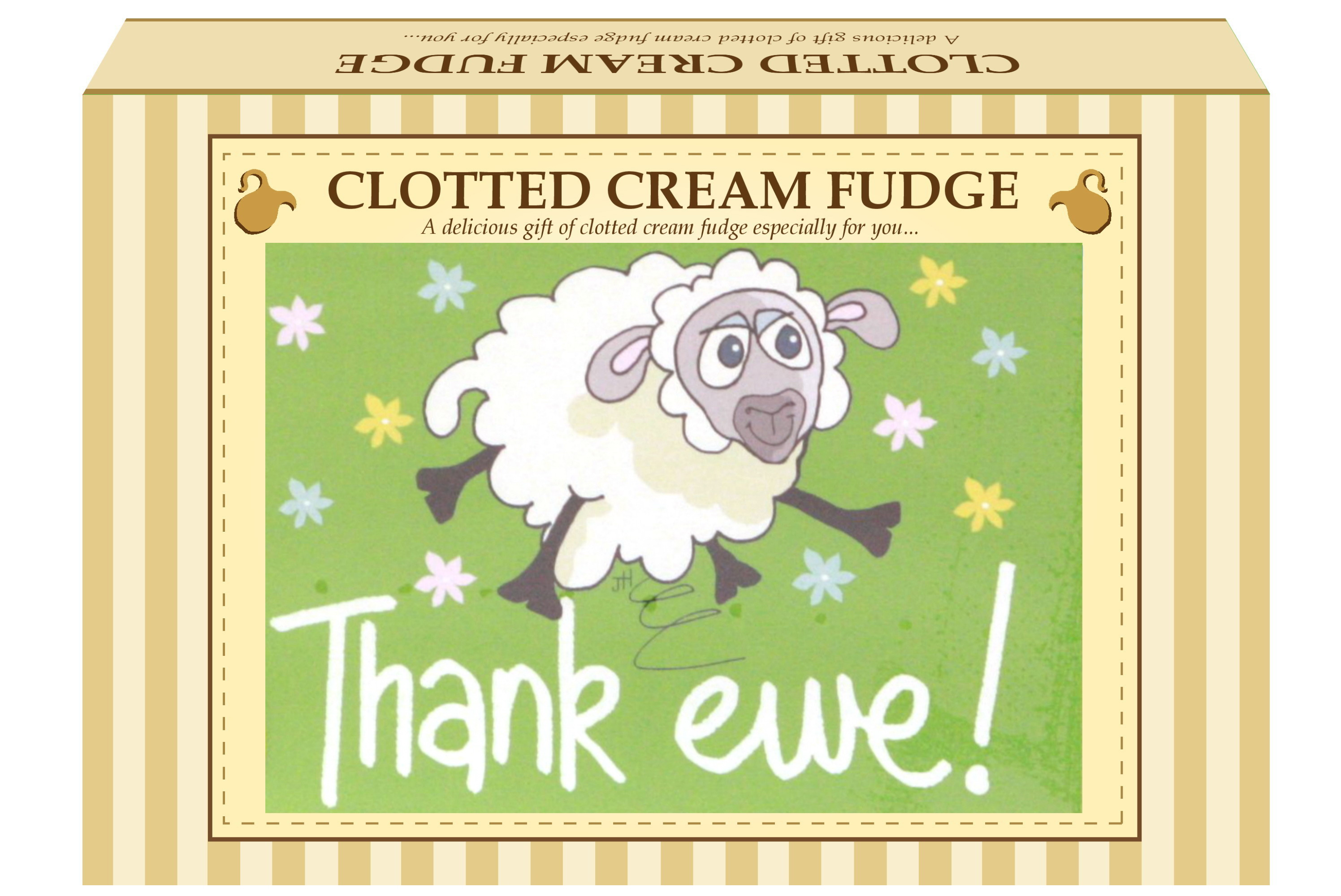 "200g Clotted Cream Fudge ""Thank Ewe"" Postcard Gift Box"
