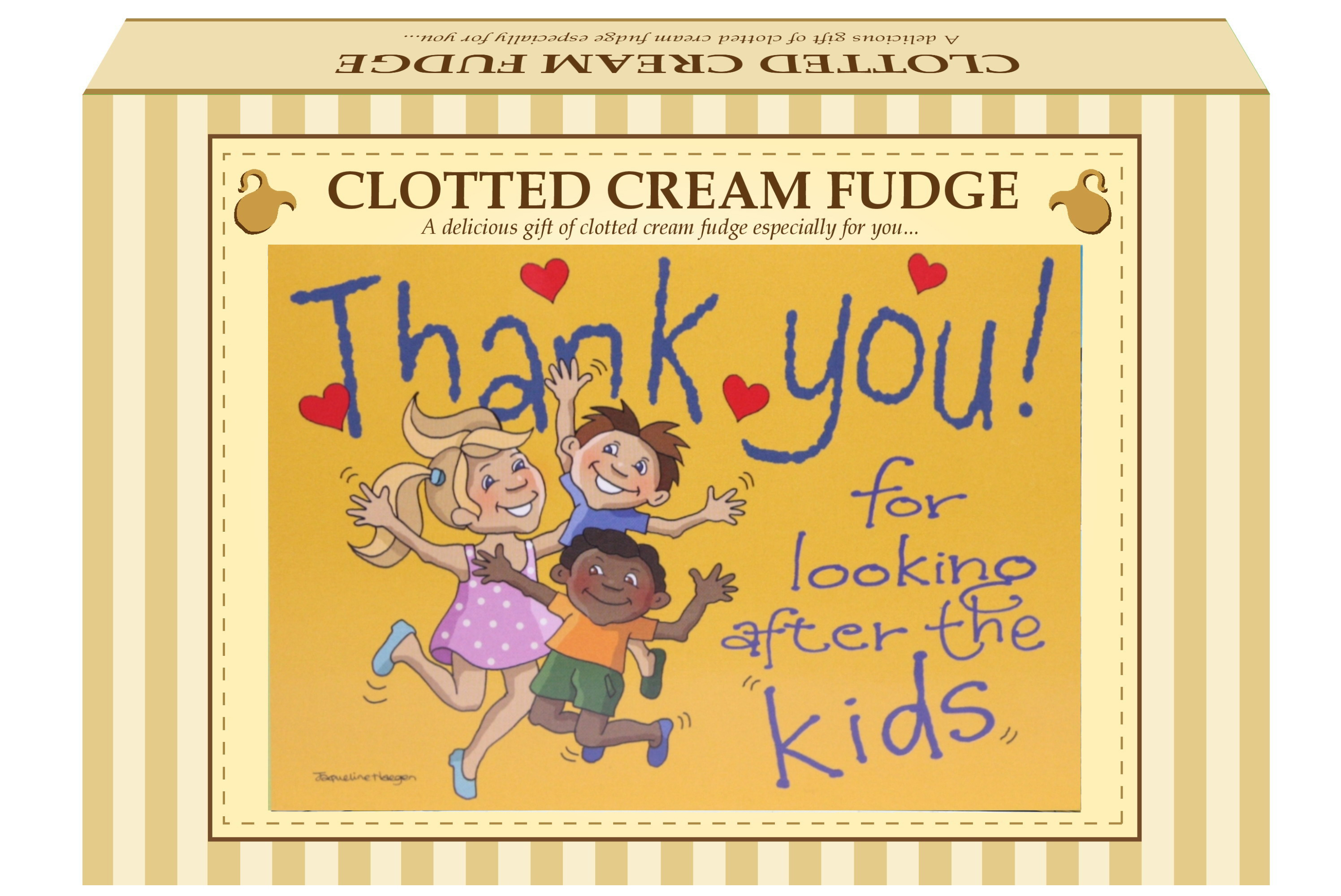"200g Clotted Cream Fudge ""Kids"" Postcard Gift Box"
