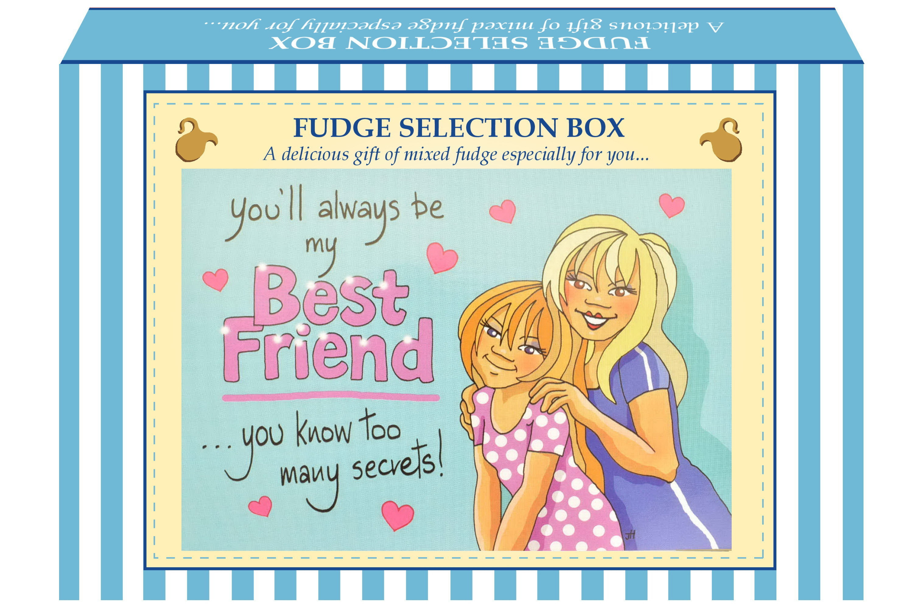 "200g Mixed Fudge ""Best Friend"" Postcard Gift Box"