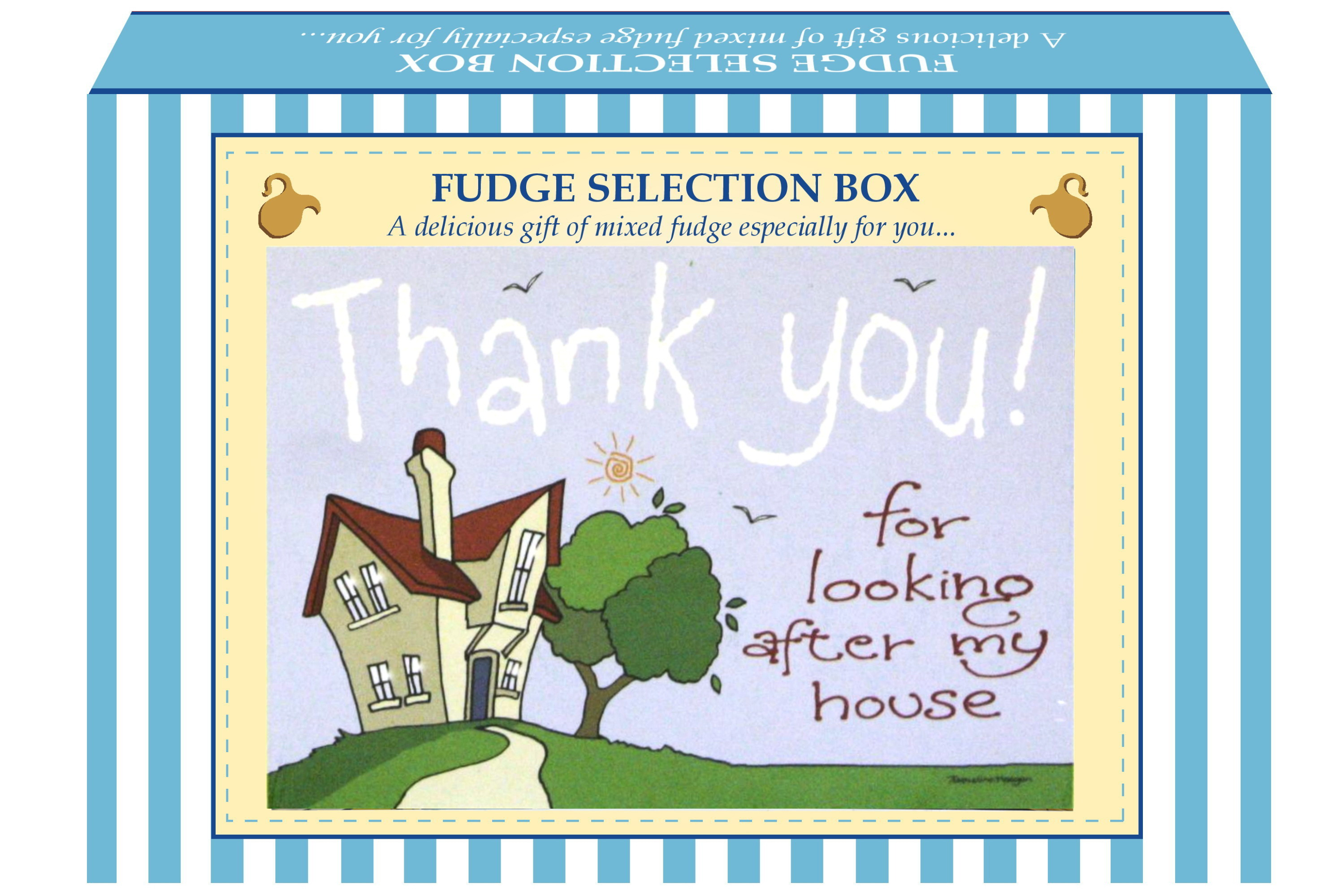 "200g Mixed Fudge ""Home"" Postcard Gift Box"