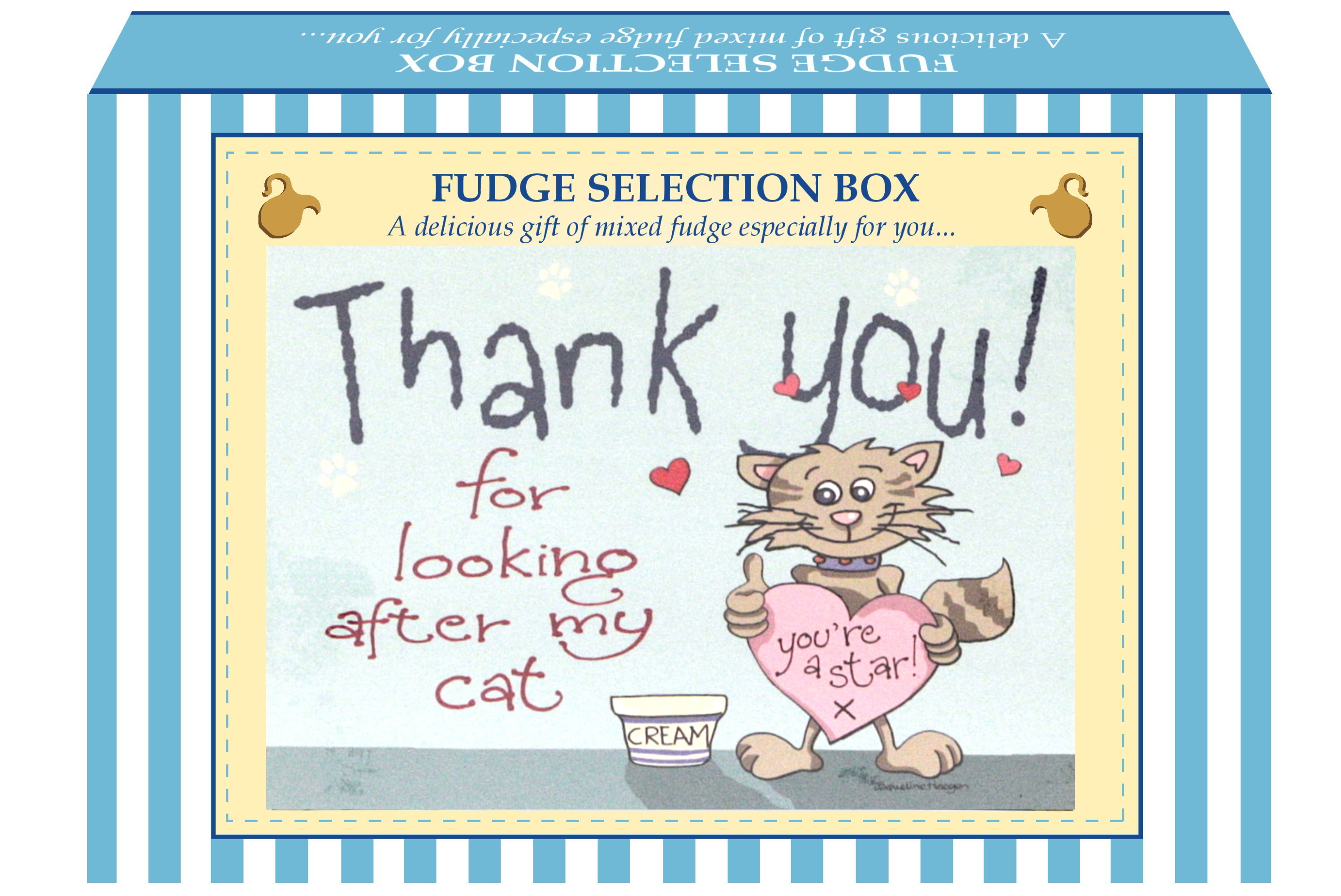 "200g Mixed Fudge ""Cat"" Postcard Gift Box"