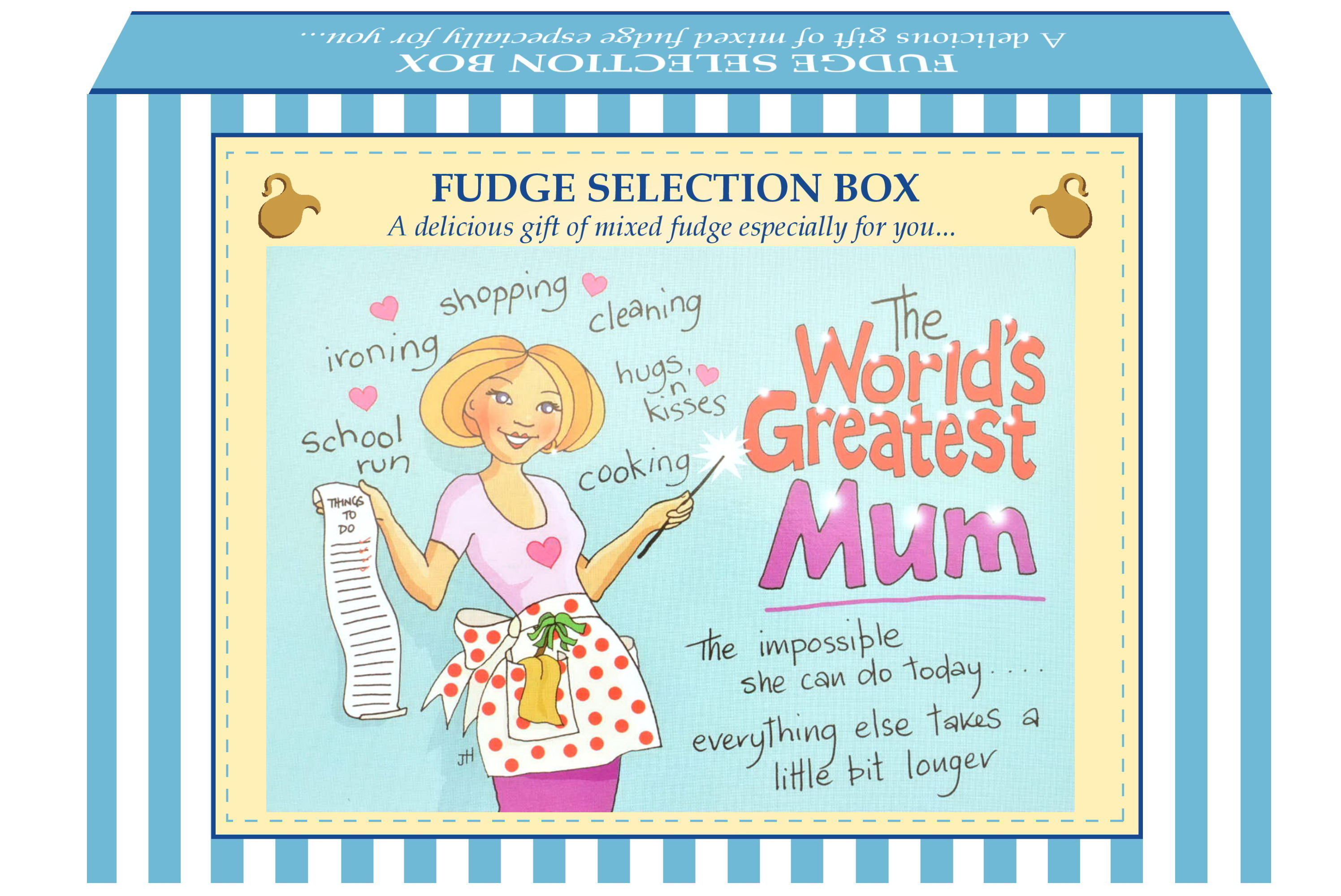 "200g Mixed Fudge ""Mum"" Postcard Gift Box"