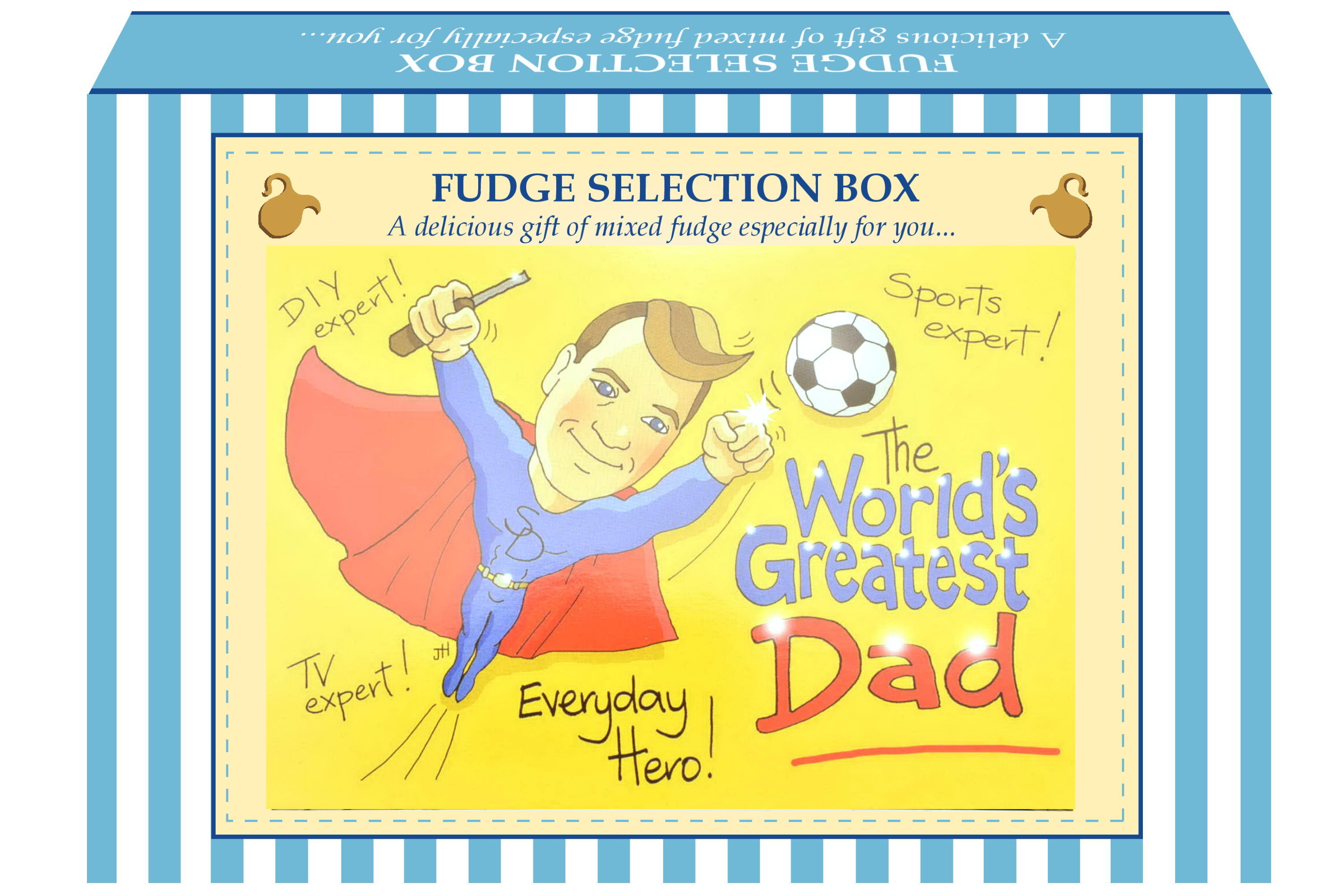 "200g Mixed Fudge ""Dad"" Postcard Gift Box"