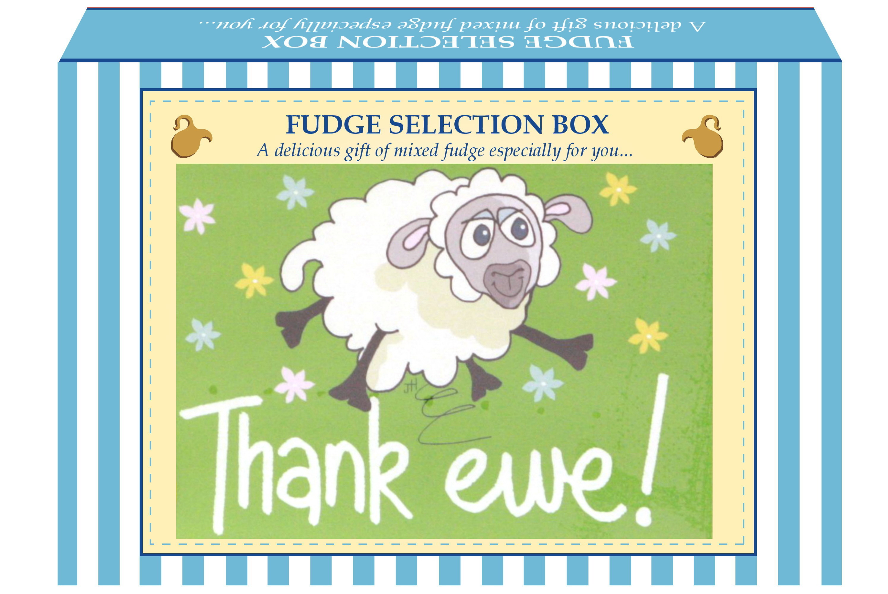 "200g Mixed Fudge ""Thank Ewe"" Postcard Gift Box"