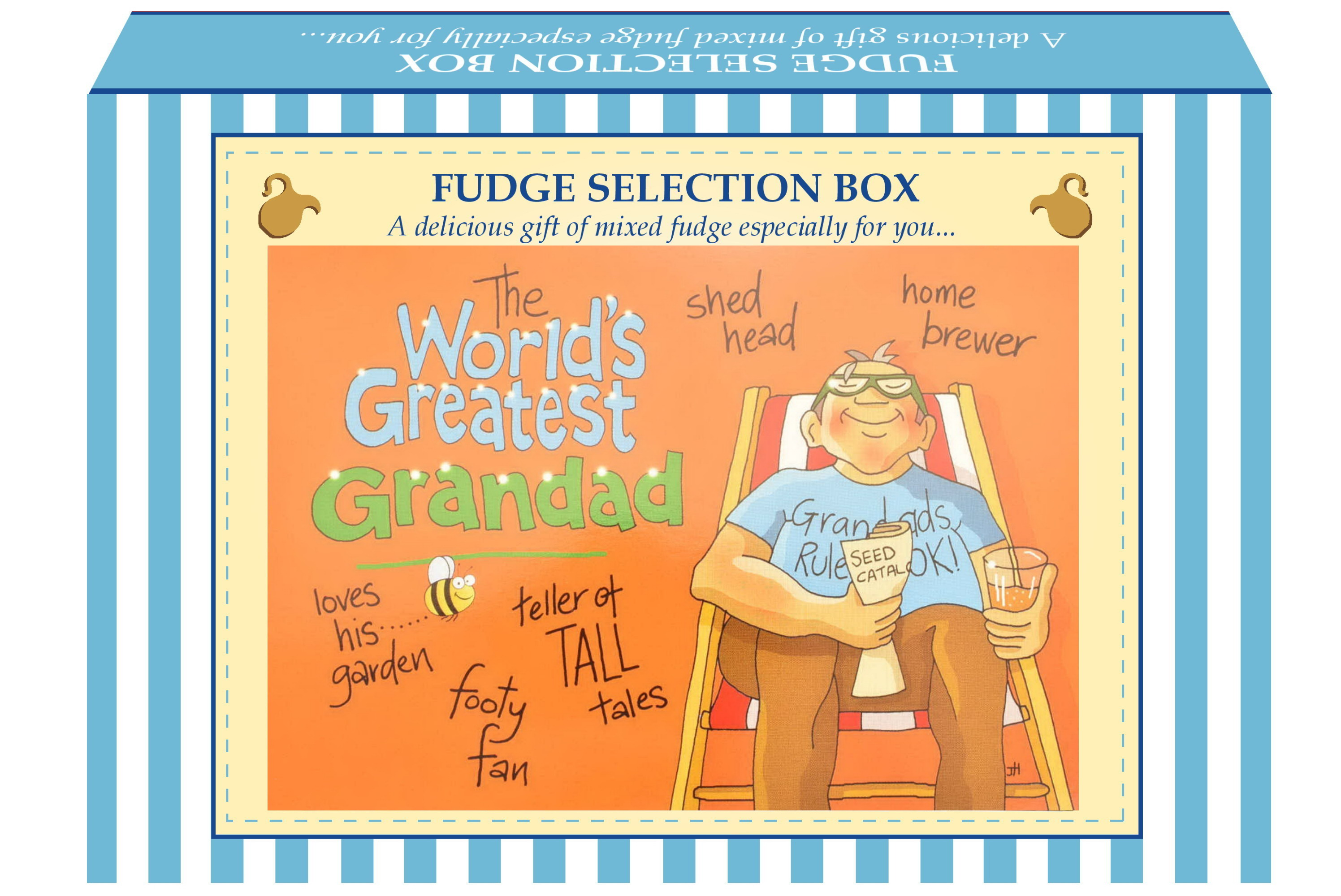 "200g Mixed Fudge ""Greatest Grandad"" Postcard Gift Box"