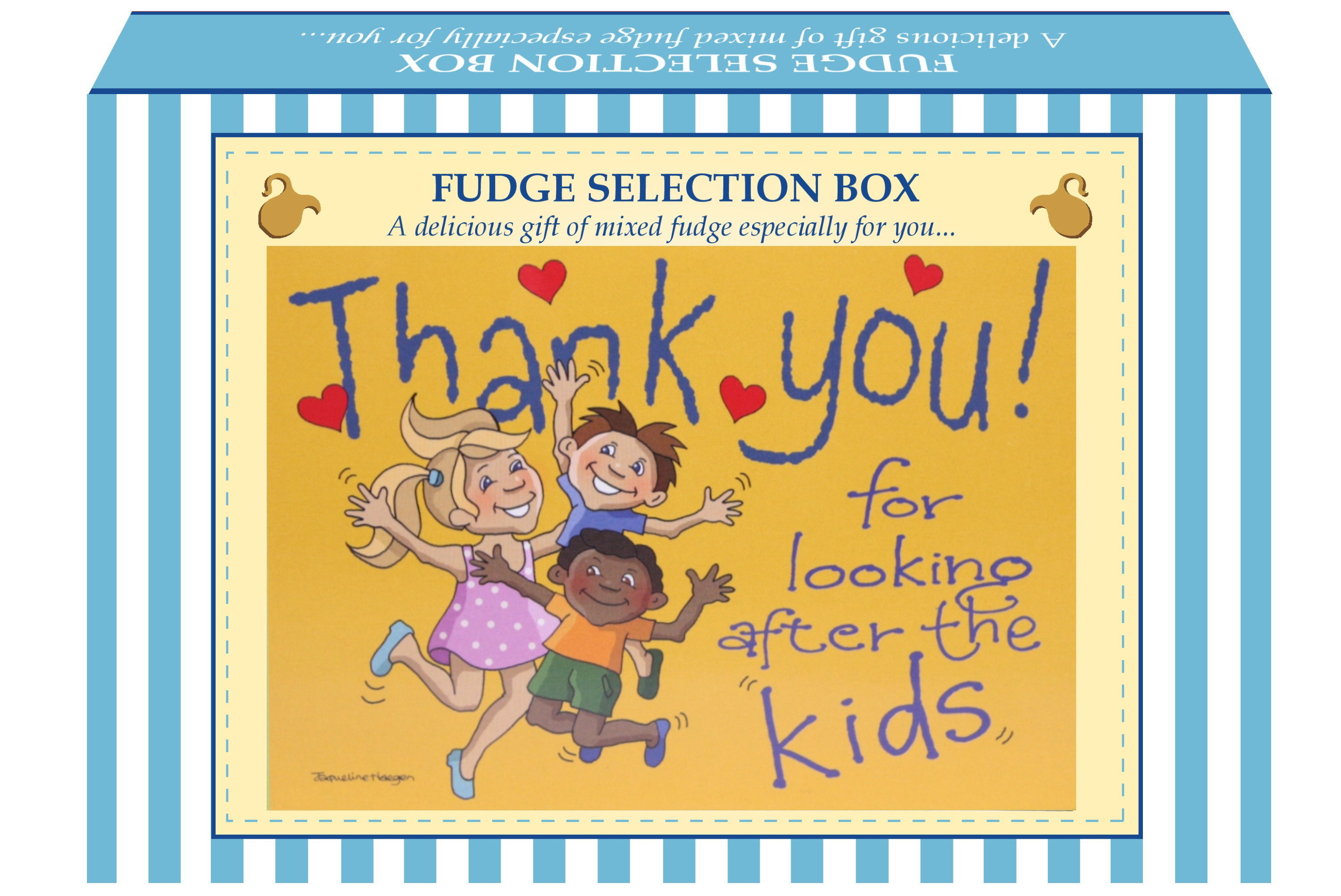"200g Mixed Fudge ""Kids"" Postcard Gift Box"