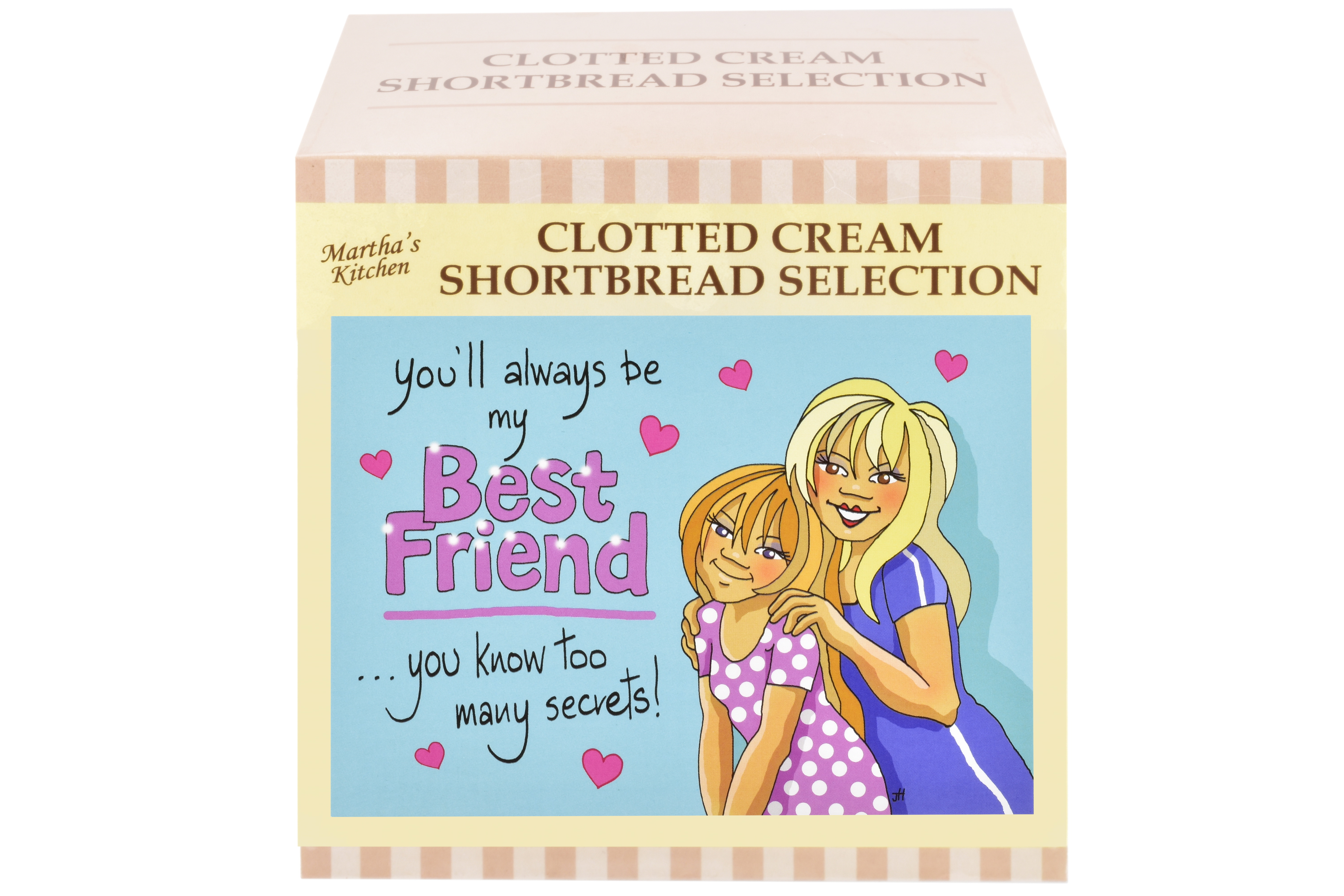 """300g Biscuit Selection """"Best Friend"""" Postcard Gift Box"""
