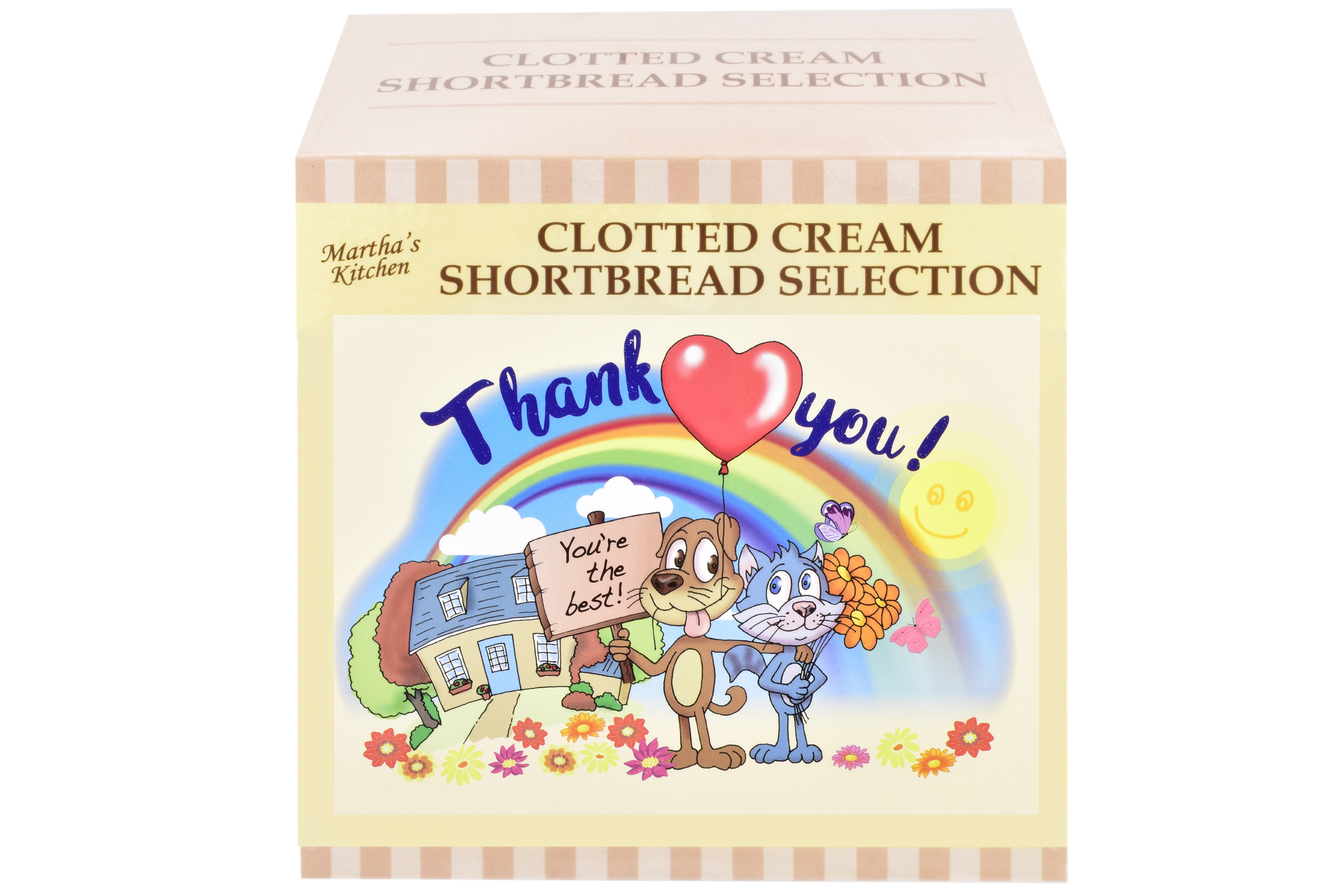 """300g Biscuit Selection """"Thank You"""" Postcard Gift Box"""