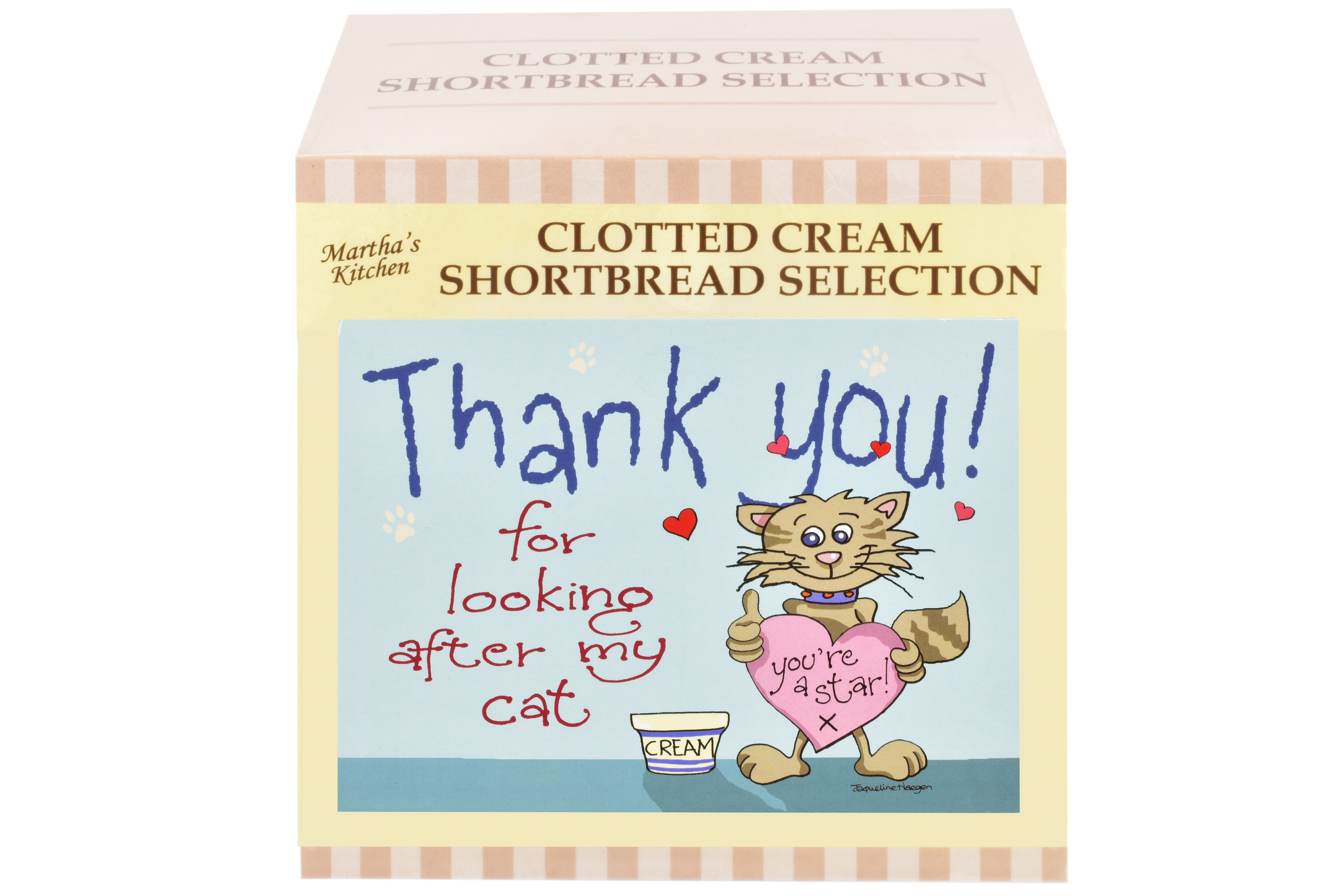 """300g Biscuit Selection """"Cat"""" Postcard Gift Box"""
