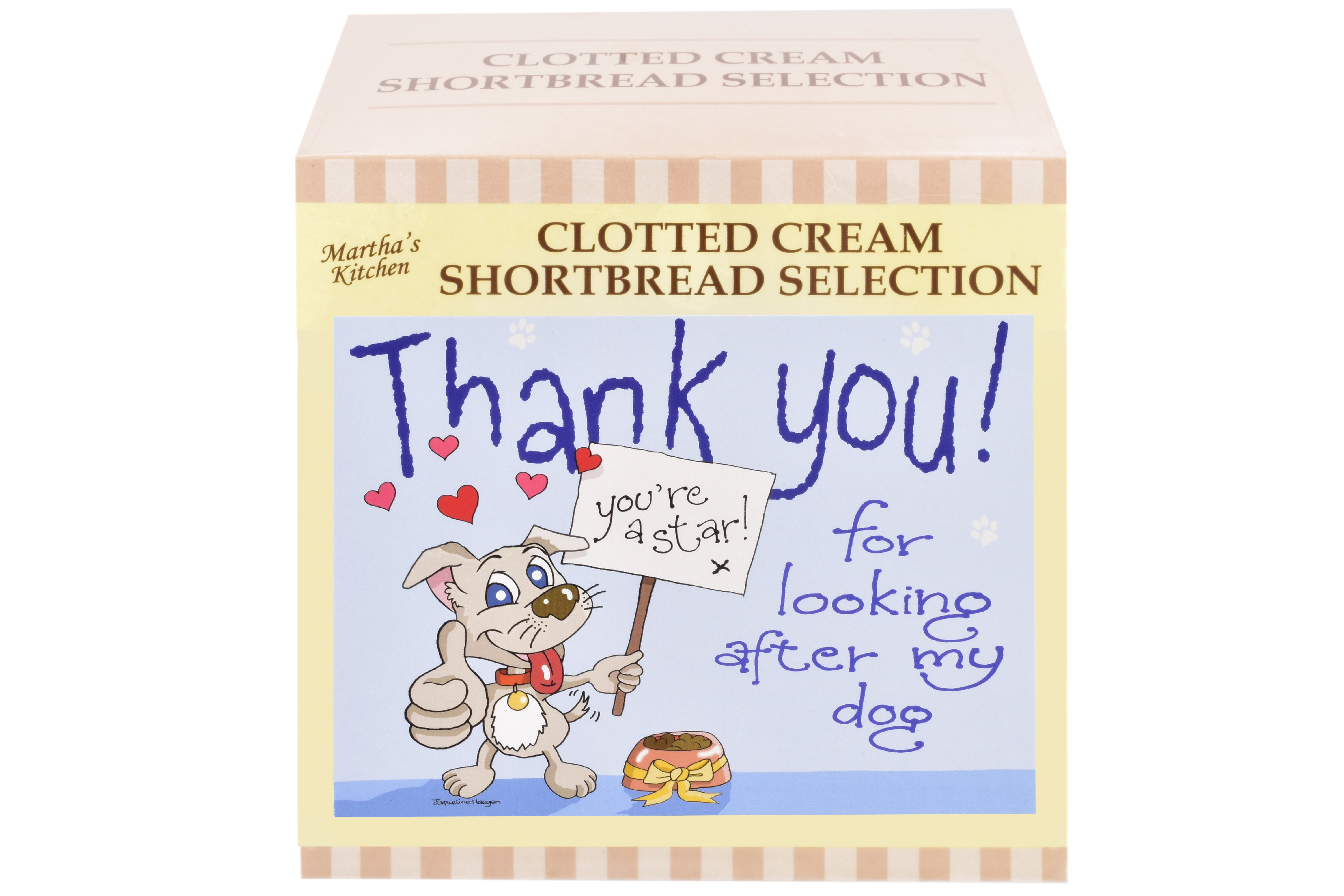"""300g Biscuit Selection """"Dog"""" Postcard Gift Box"""