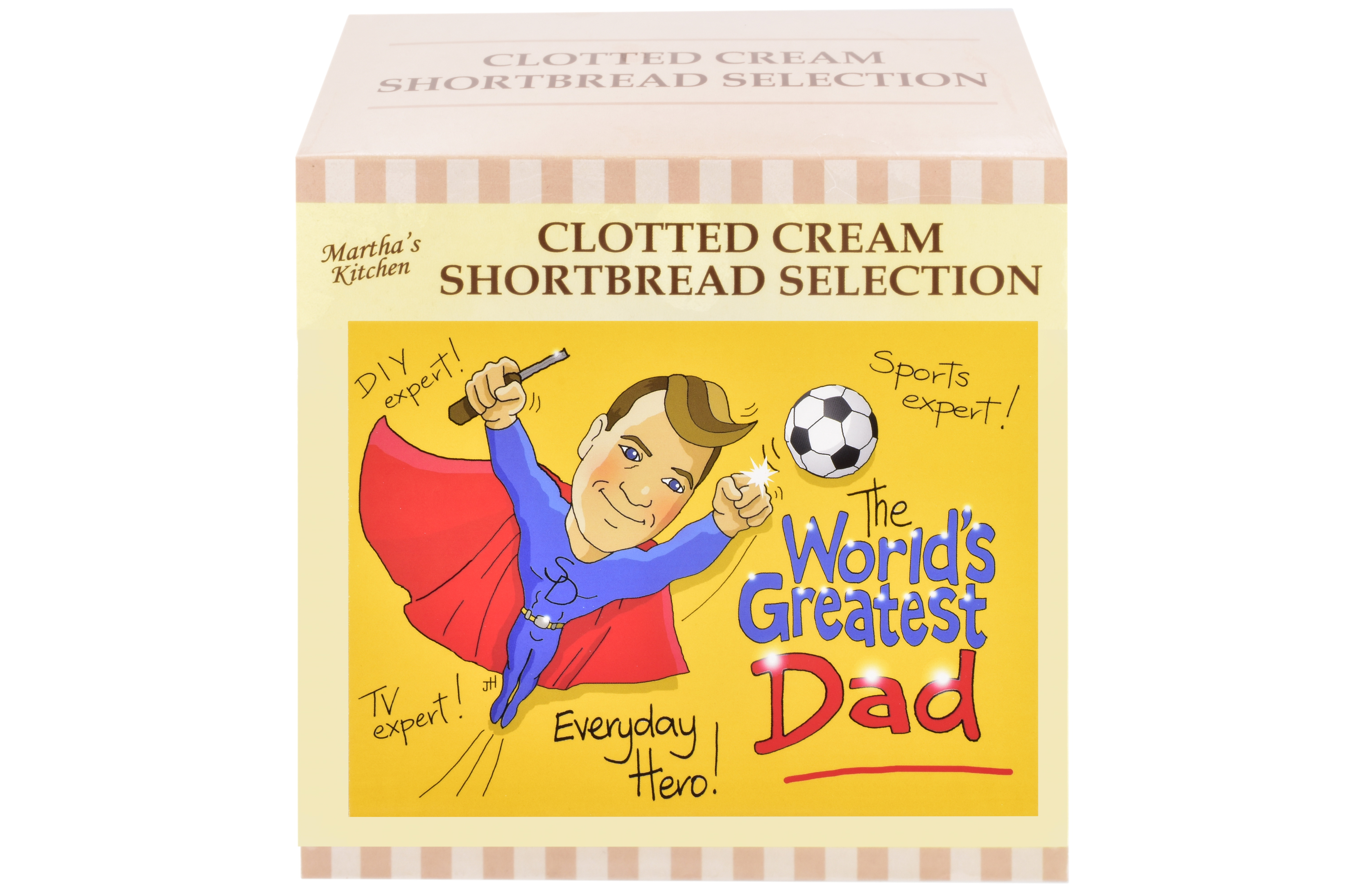 """300g Biscuit Selection """"Dad"""" Postcard Gift Box"""