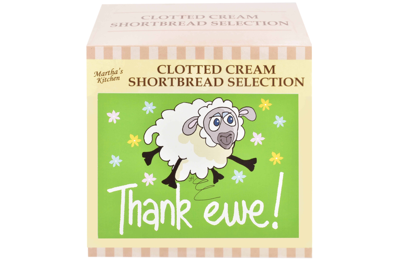 "300g Biscuit Selection ""Thank Ewe"" Postcard Gift Box"