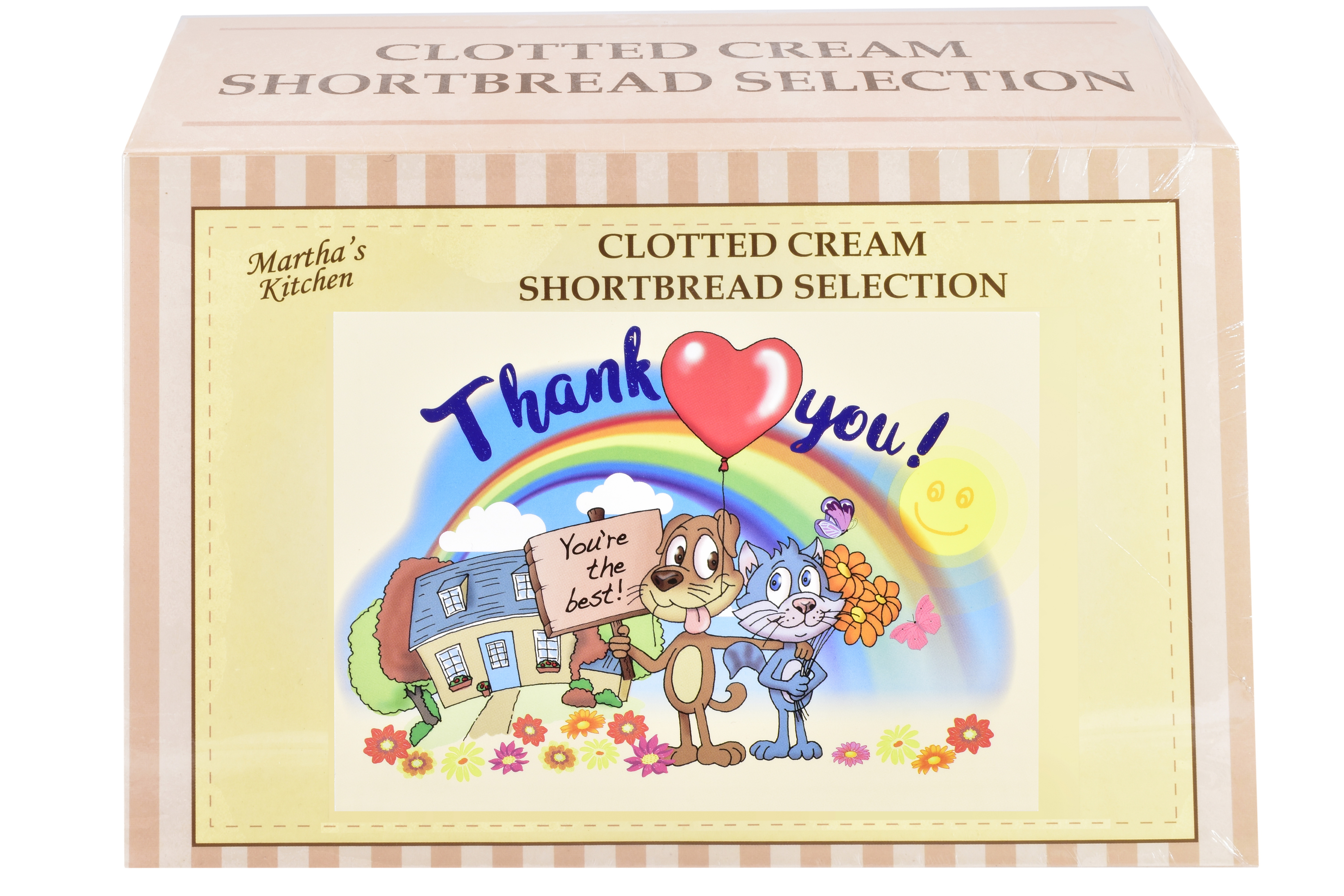 """450g Biscuit Selection """"Thank You"""" Postcard Gift Box"""