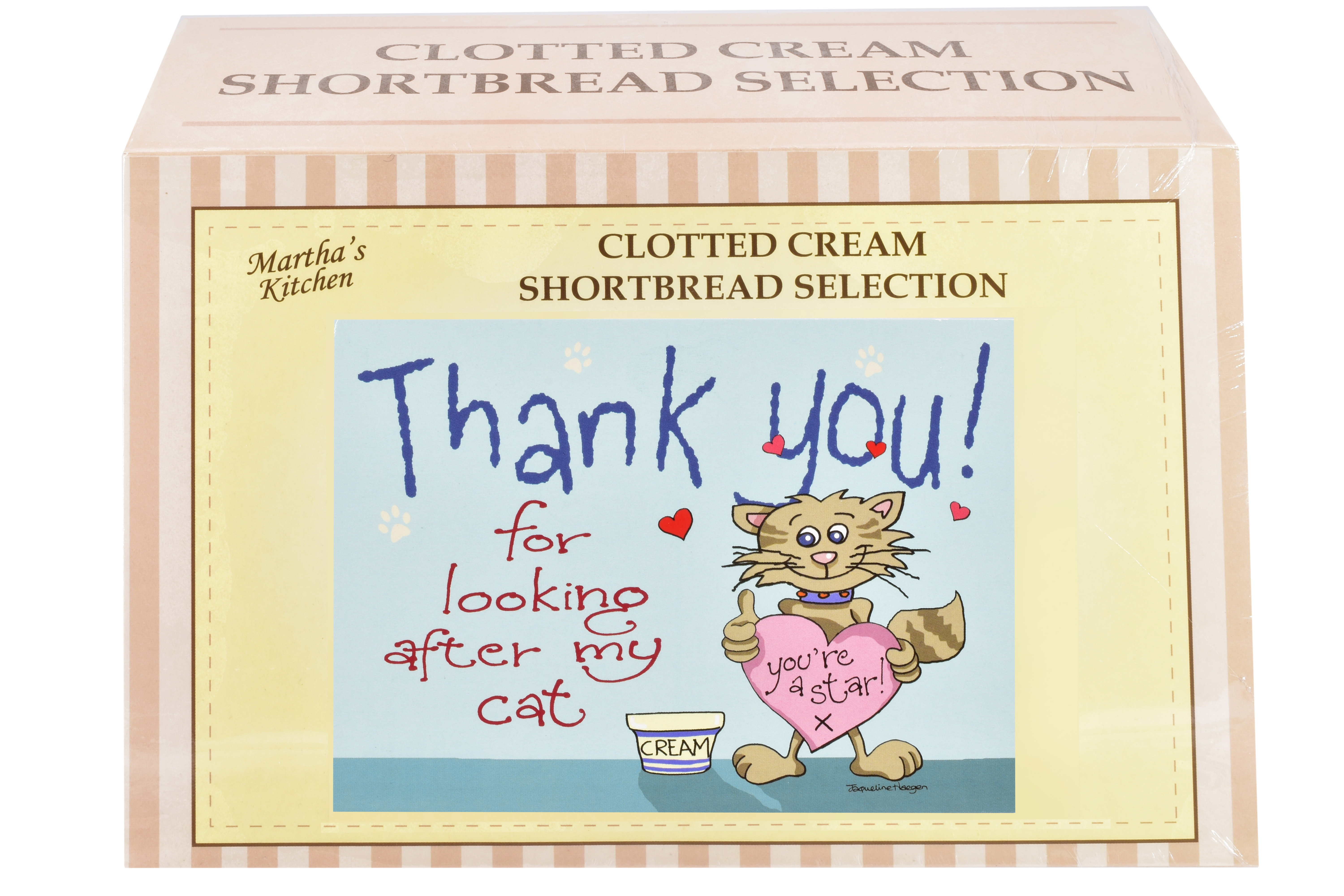 """450g Biscuit Selection """"Cat"""" Postcard Gift Box"""