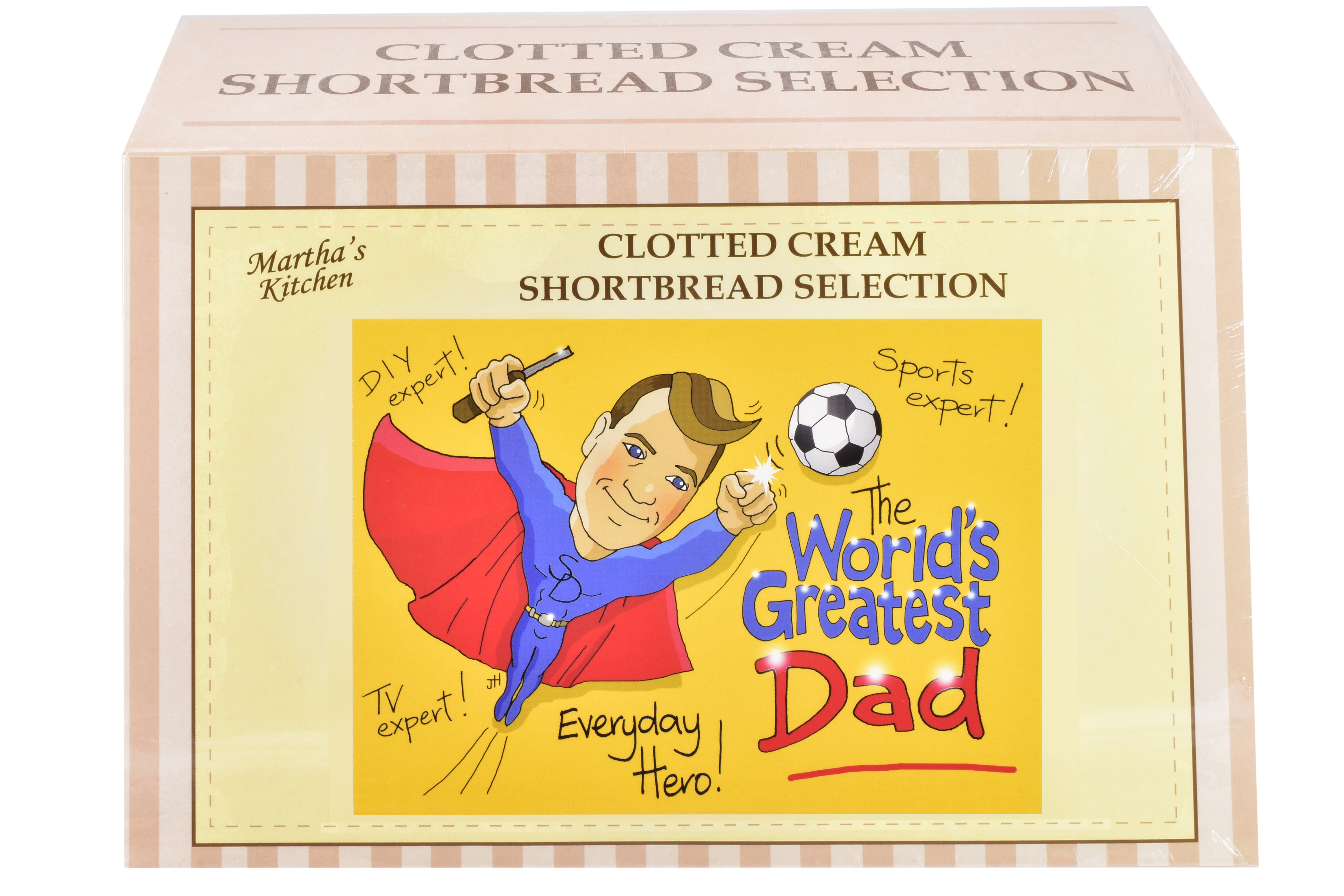 """450g Biscuit Selection """"Dad"""" Postcard Gift Box"""