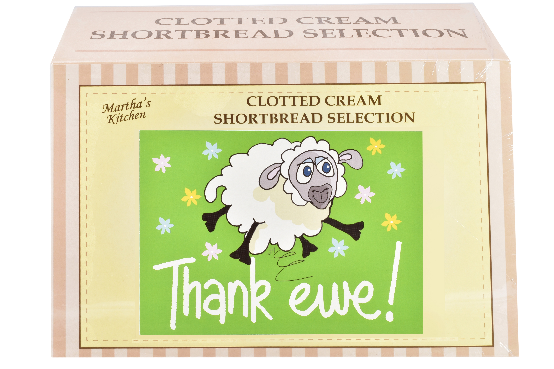 "450g Biscuit Selection ""Thank Ewe"" Postcard Gift Box"