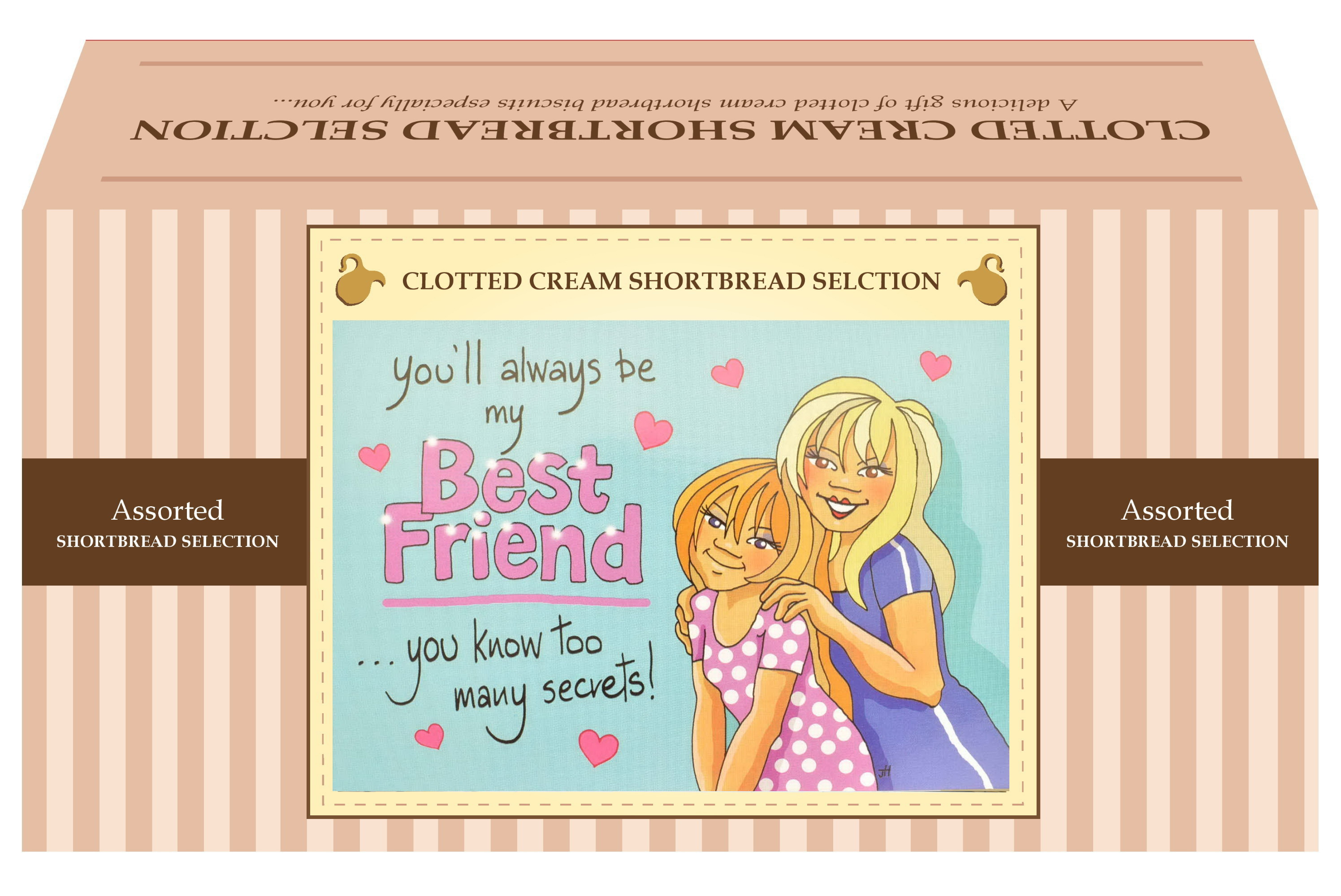 "600g Biscuit Selection ""Best Friend"" Postcard Gift Box"